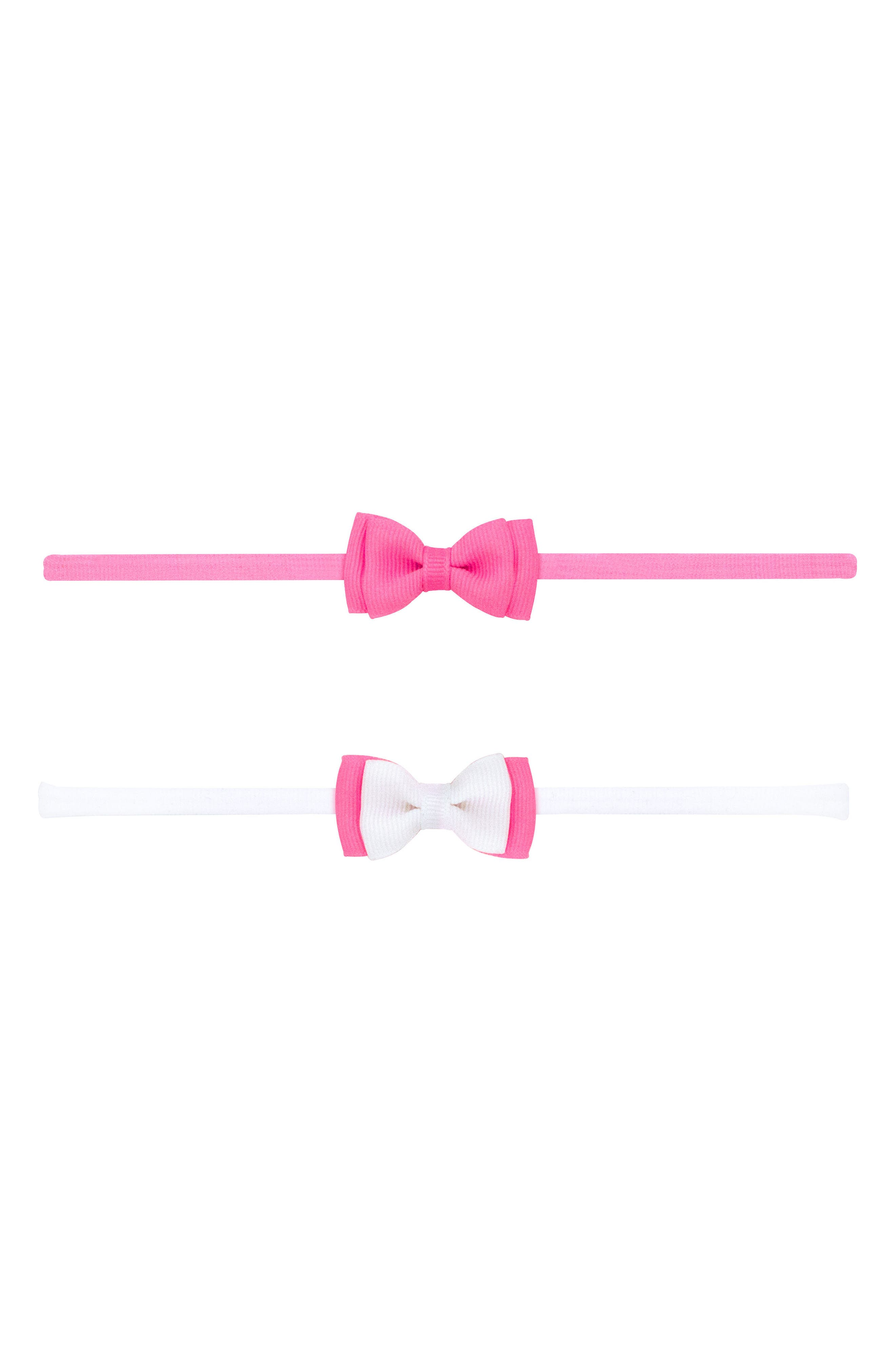2-Pack Bow Headbands,                         Main,                         color, Hot Pink