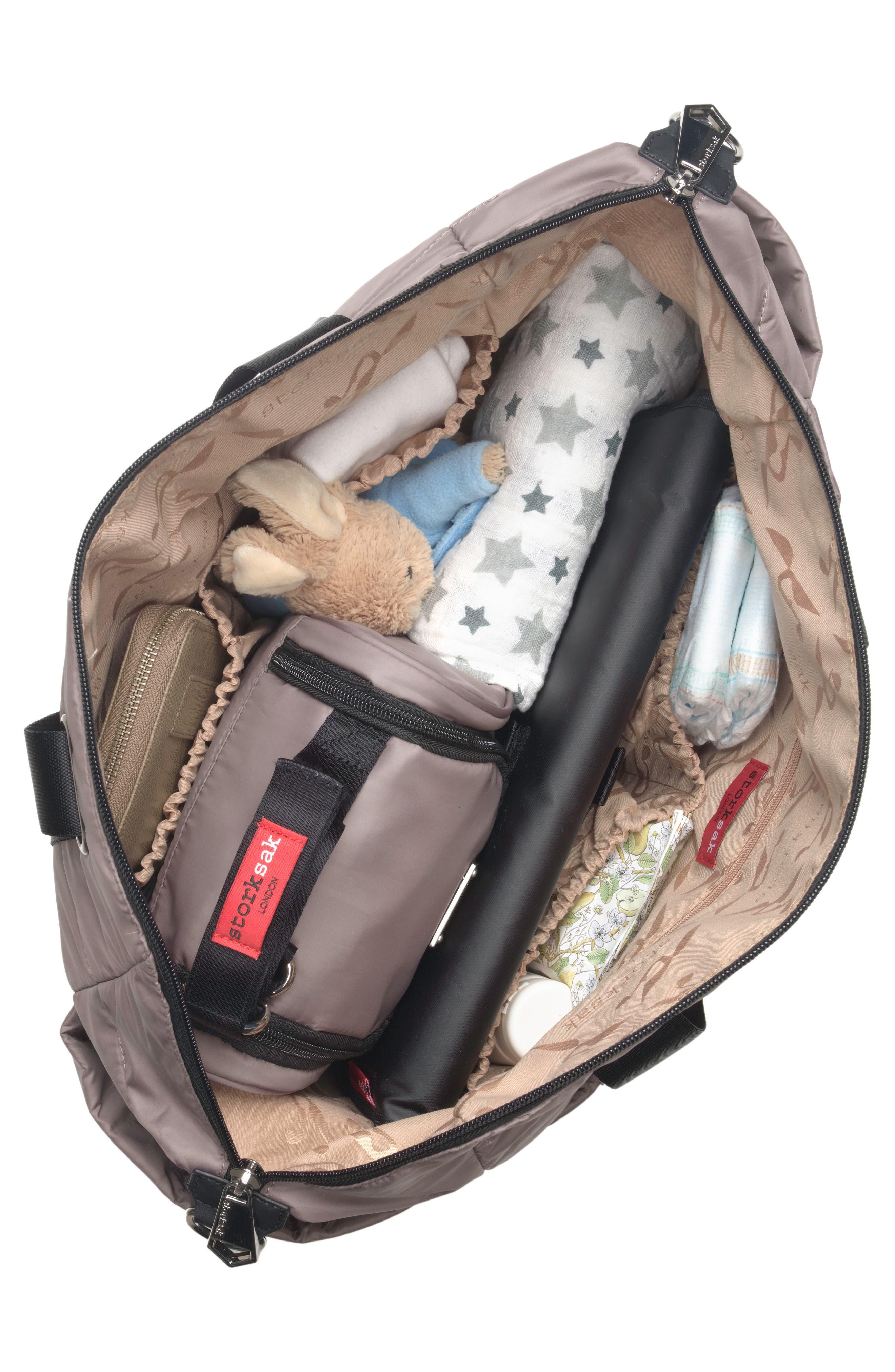 Alternate Image 4  - Storksak 'Sandy' Diaper Bag