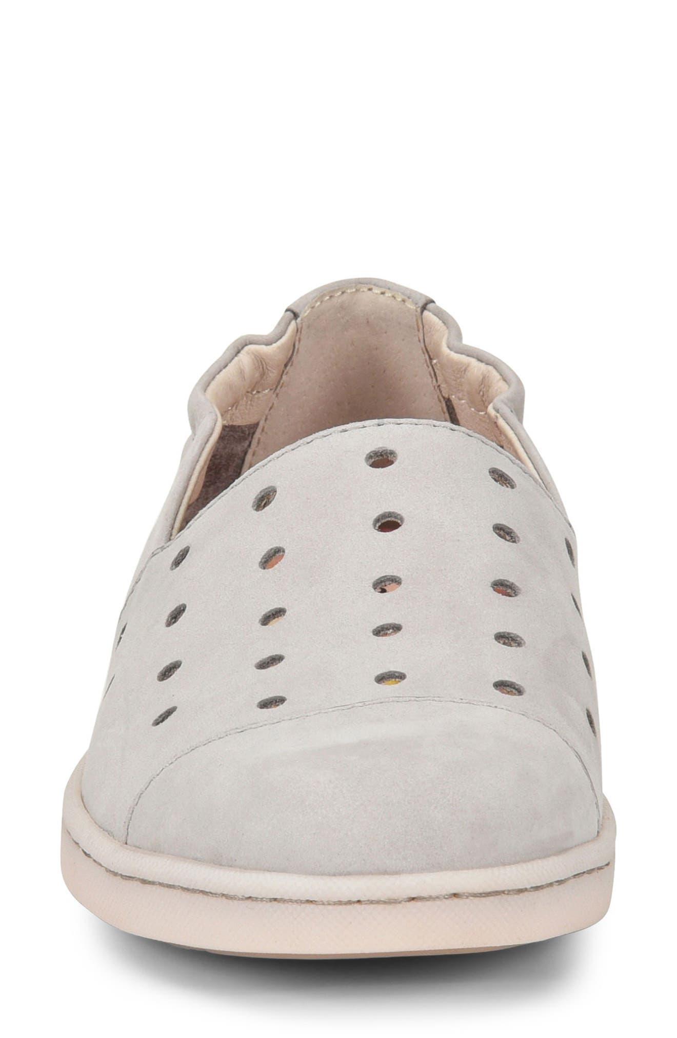 Kristin Sneaker,                             Alternate thumbnail 4, color,                             Light Grey Nubuck Leather