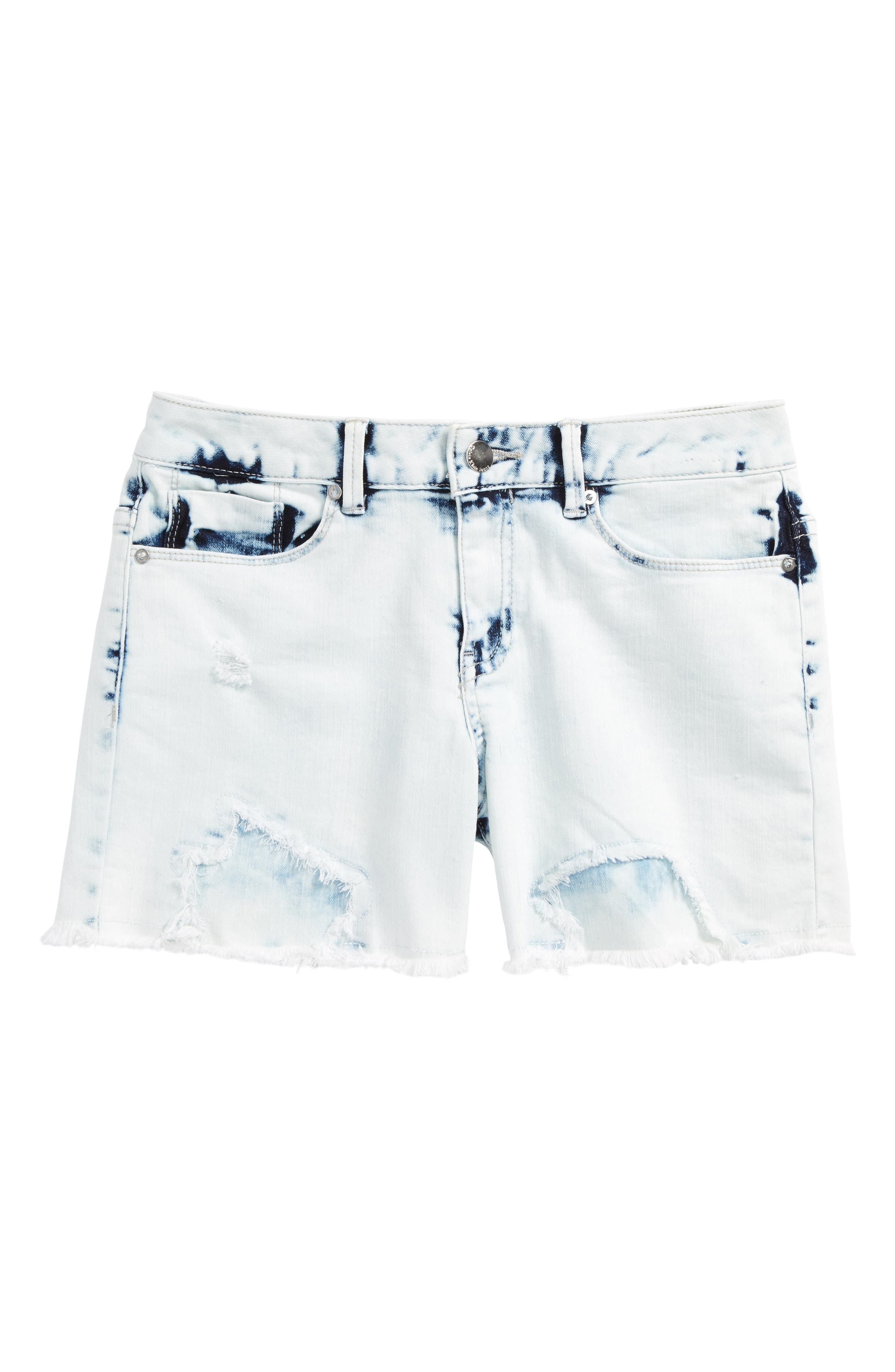 Alternate Image 1 Selected - Calvin Klein Extreme Destroy Denim Shorts (Big Girls)