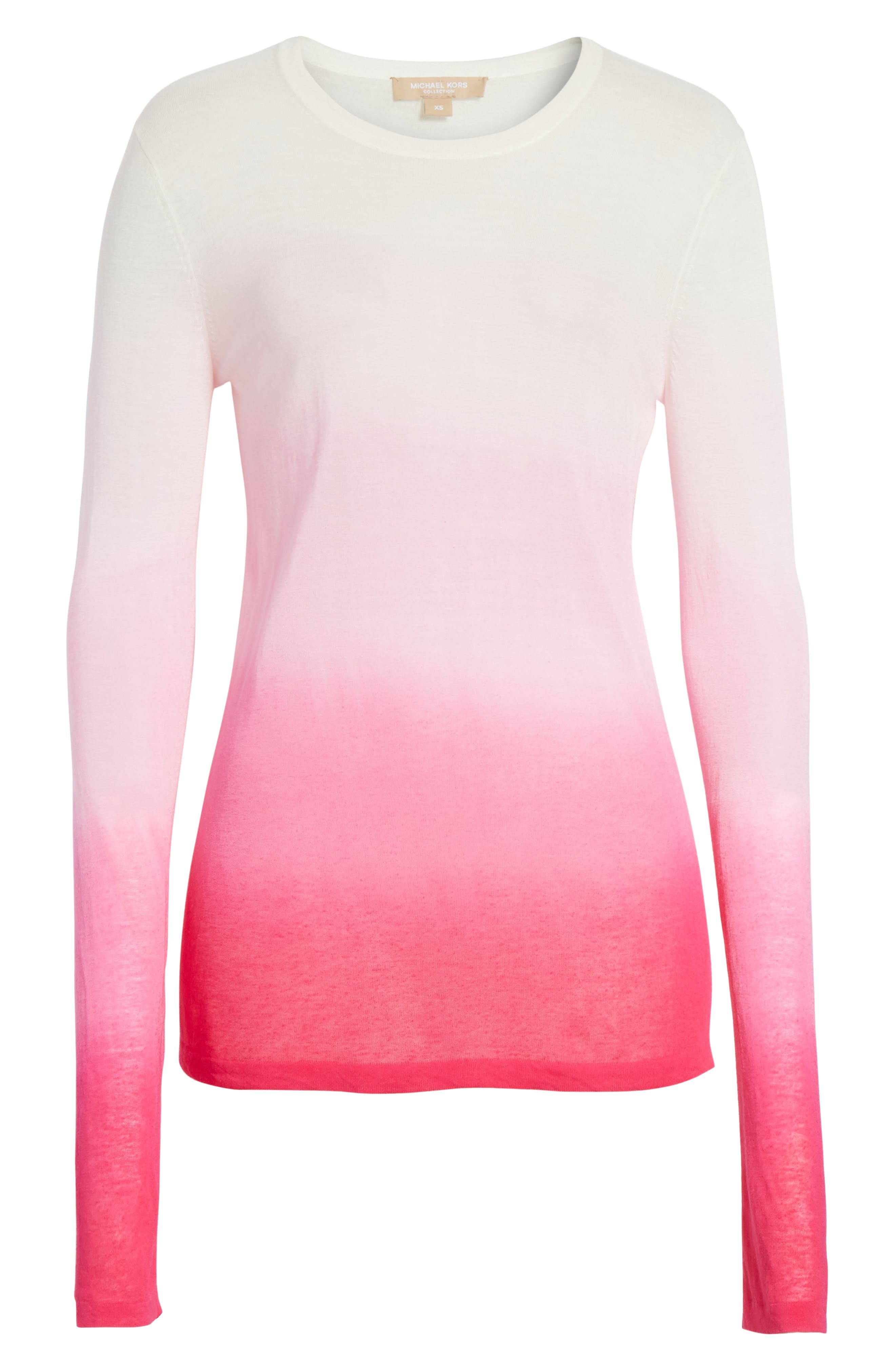 Ombré Sweater,                             Alternate thumbnail 6, color,                             Rosewater