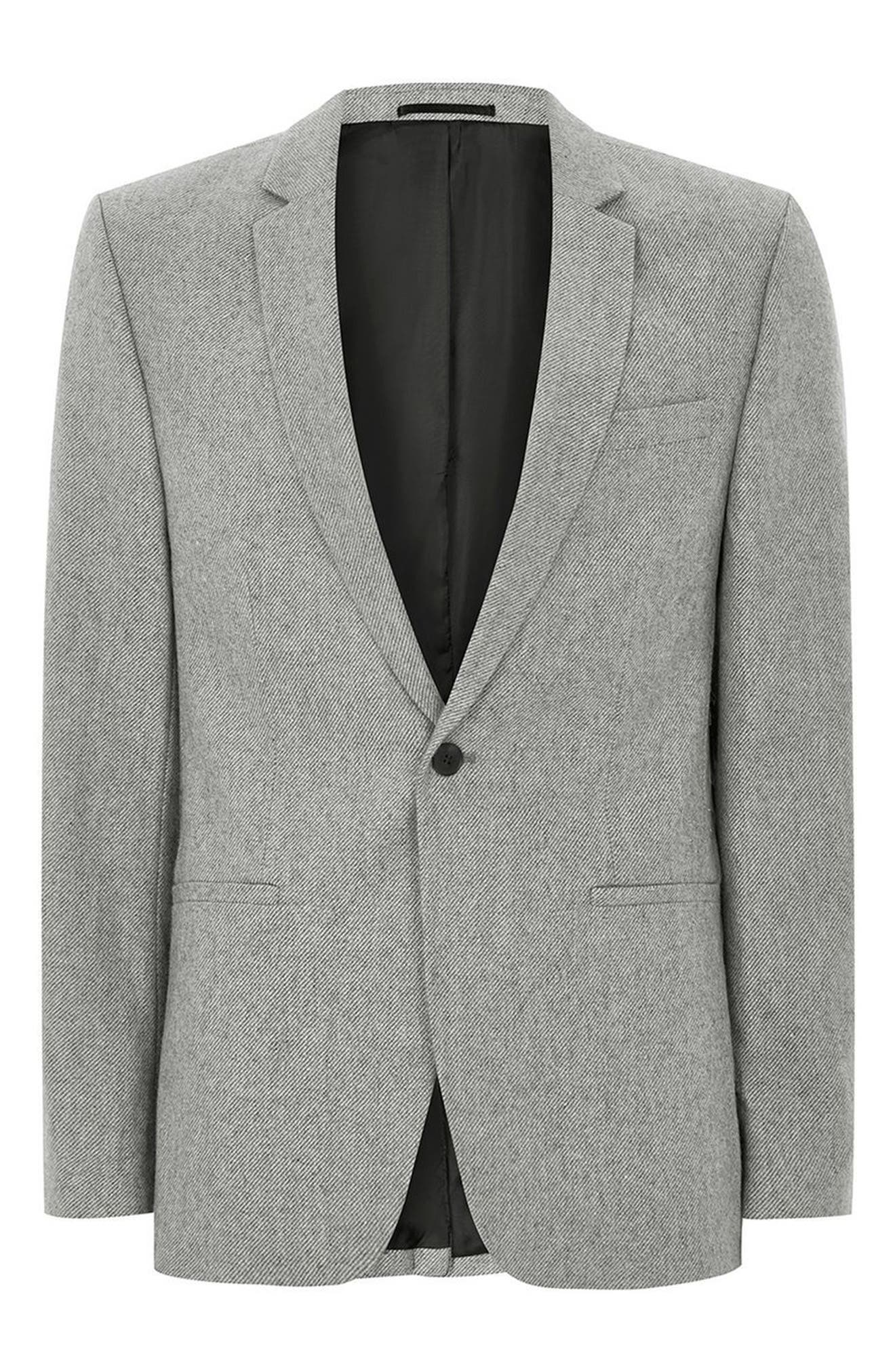 Alternate Image 4  - Topman Slim Fit Smart Blazer