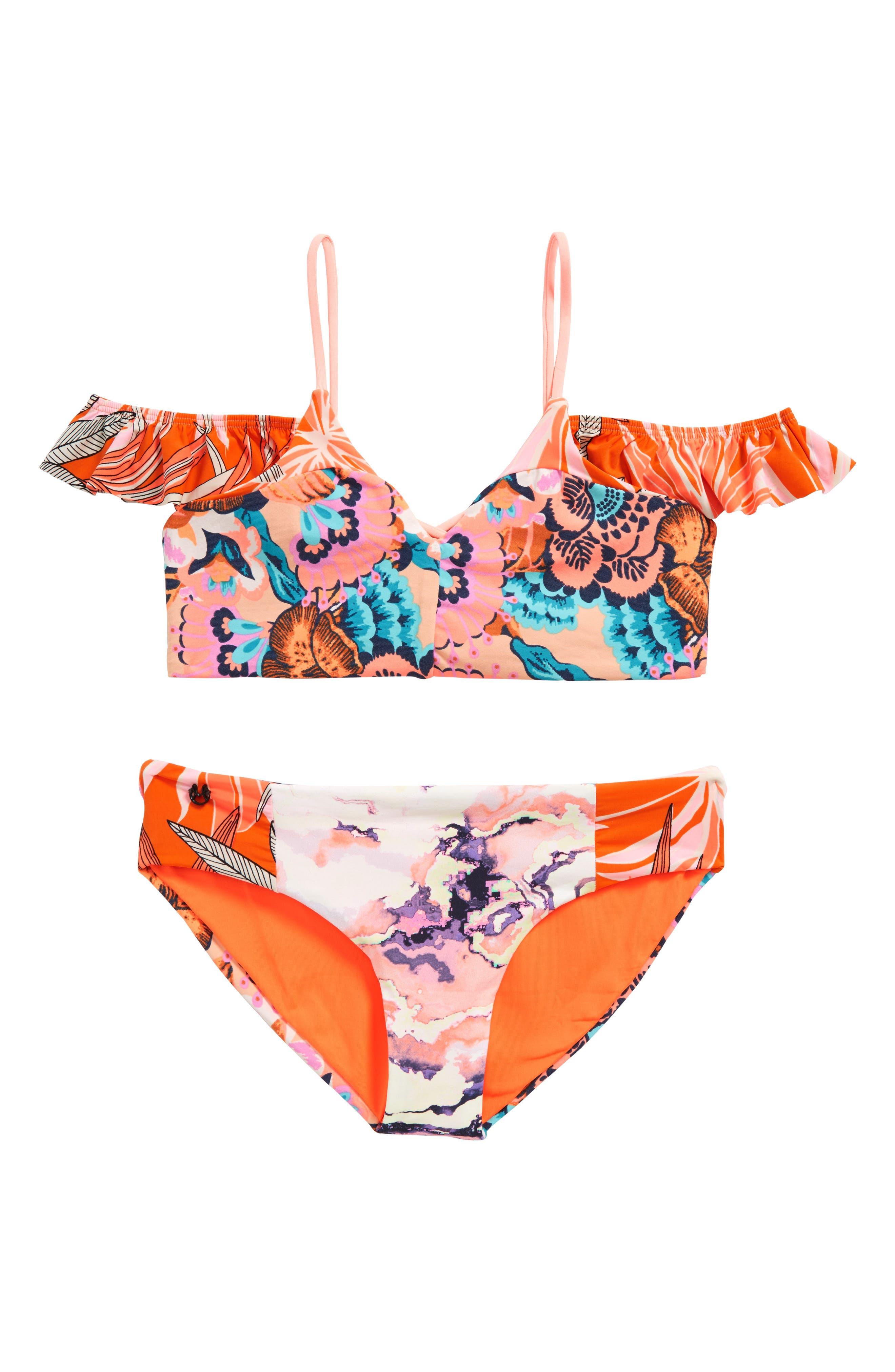 Maaji Tropic Cay Two-Piece Reversible Swimsuit (Big Girls)