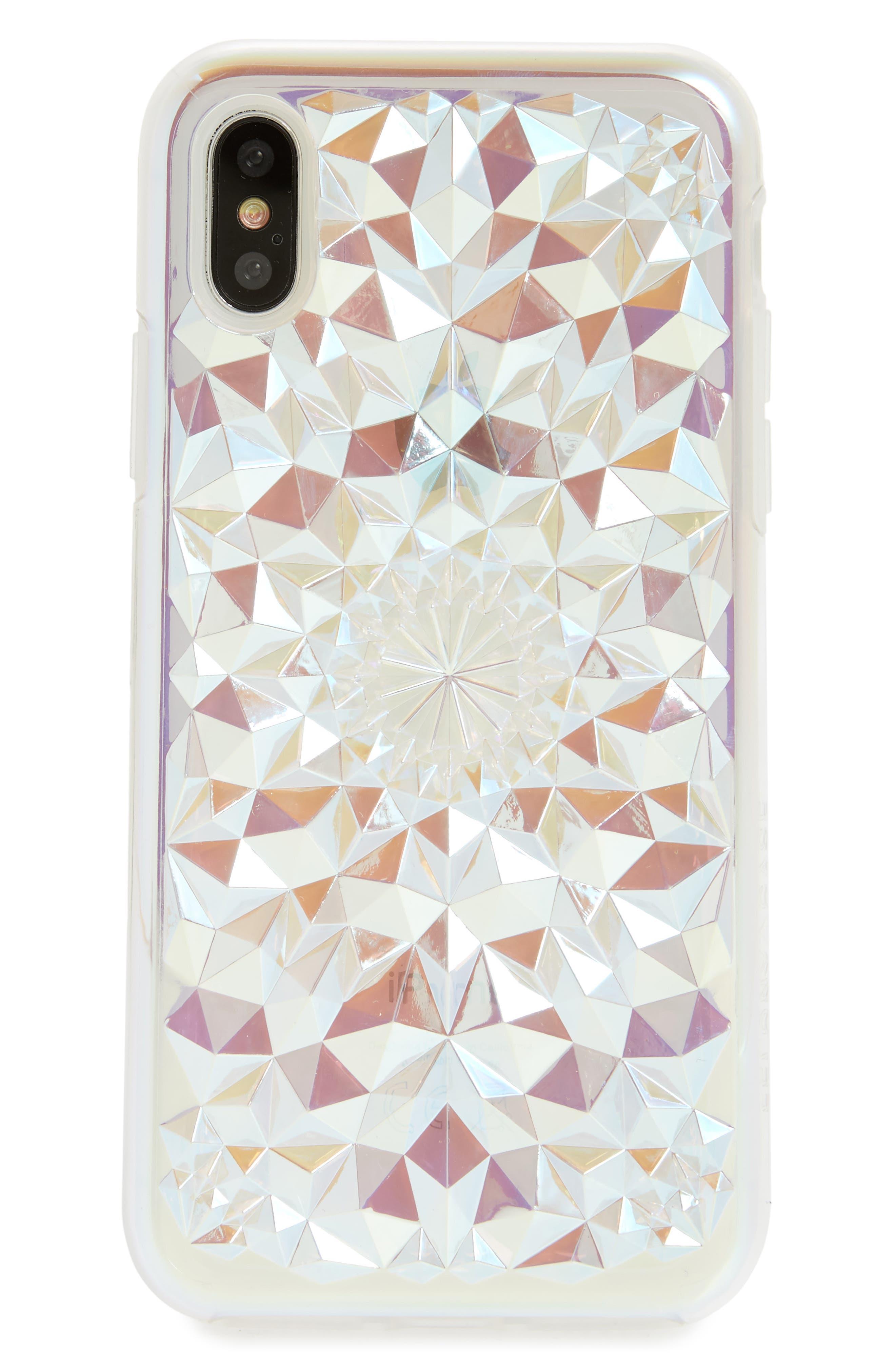 Clear Cosmic Kaleidoscope iPhone X Case,                         Main,                         color, Multi