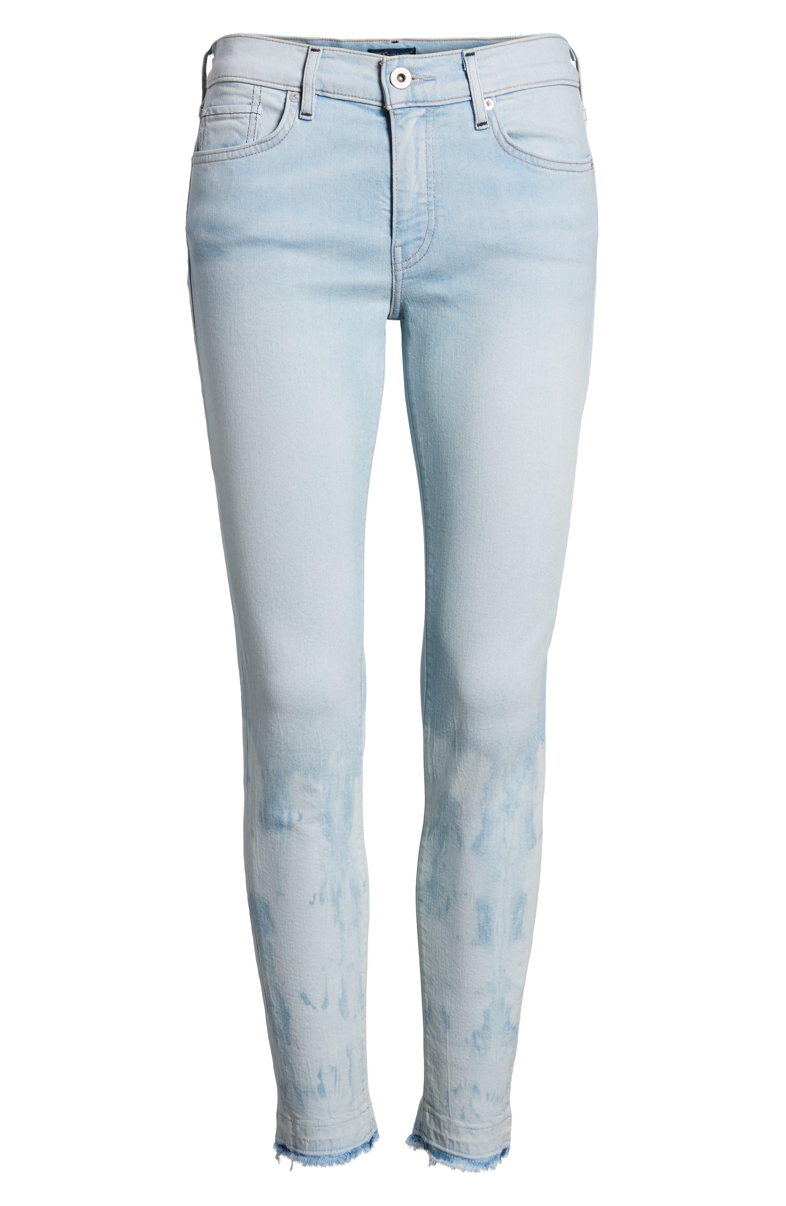 Empire Ankle Skinny Jeans,                             Alternate thumbnail 7, color,                             Beach Break