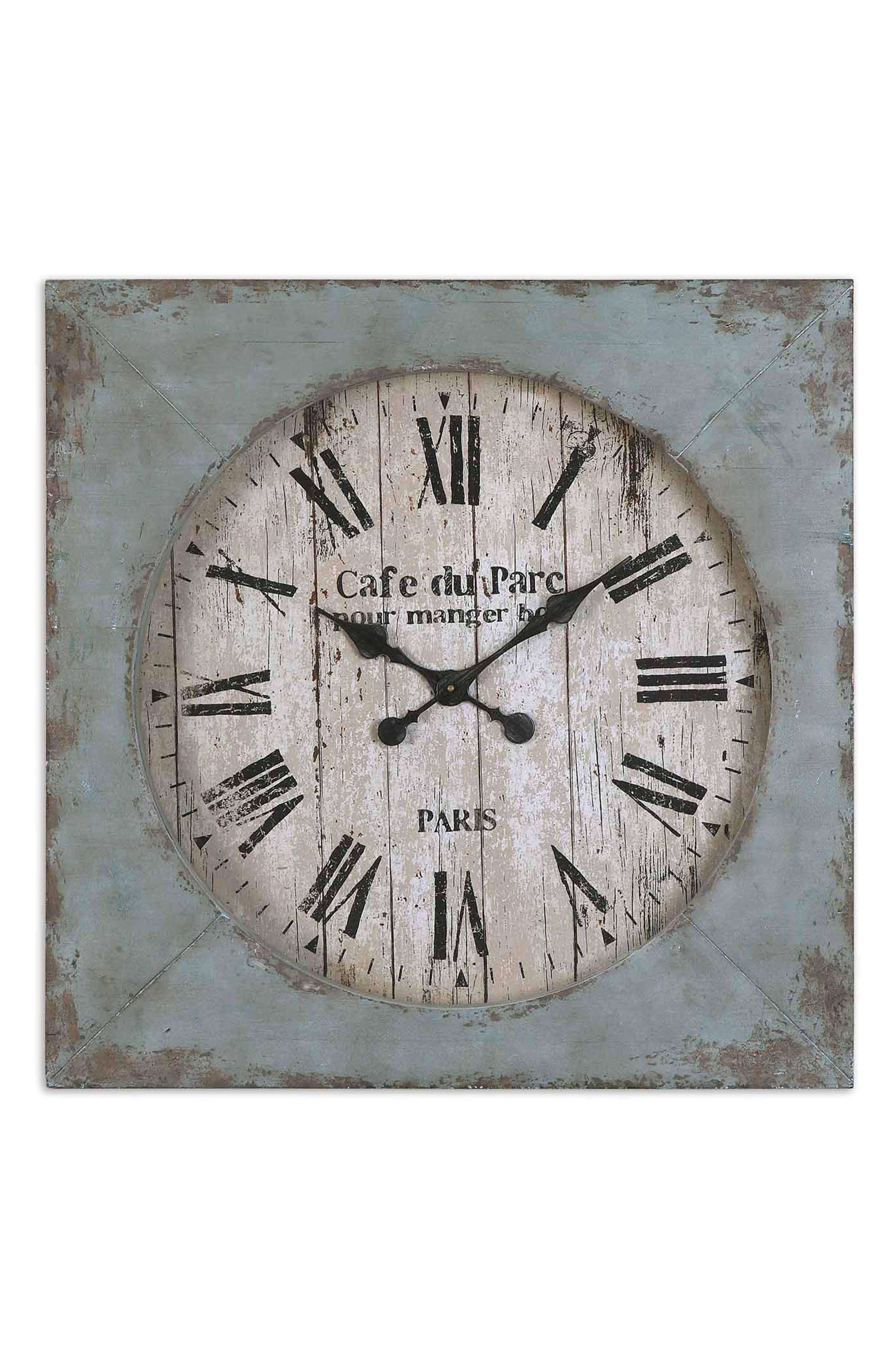 Paron Wall Clock,                         Main,                         color, Blue/ Green