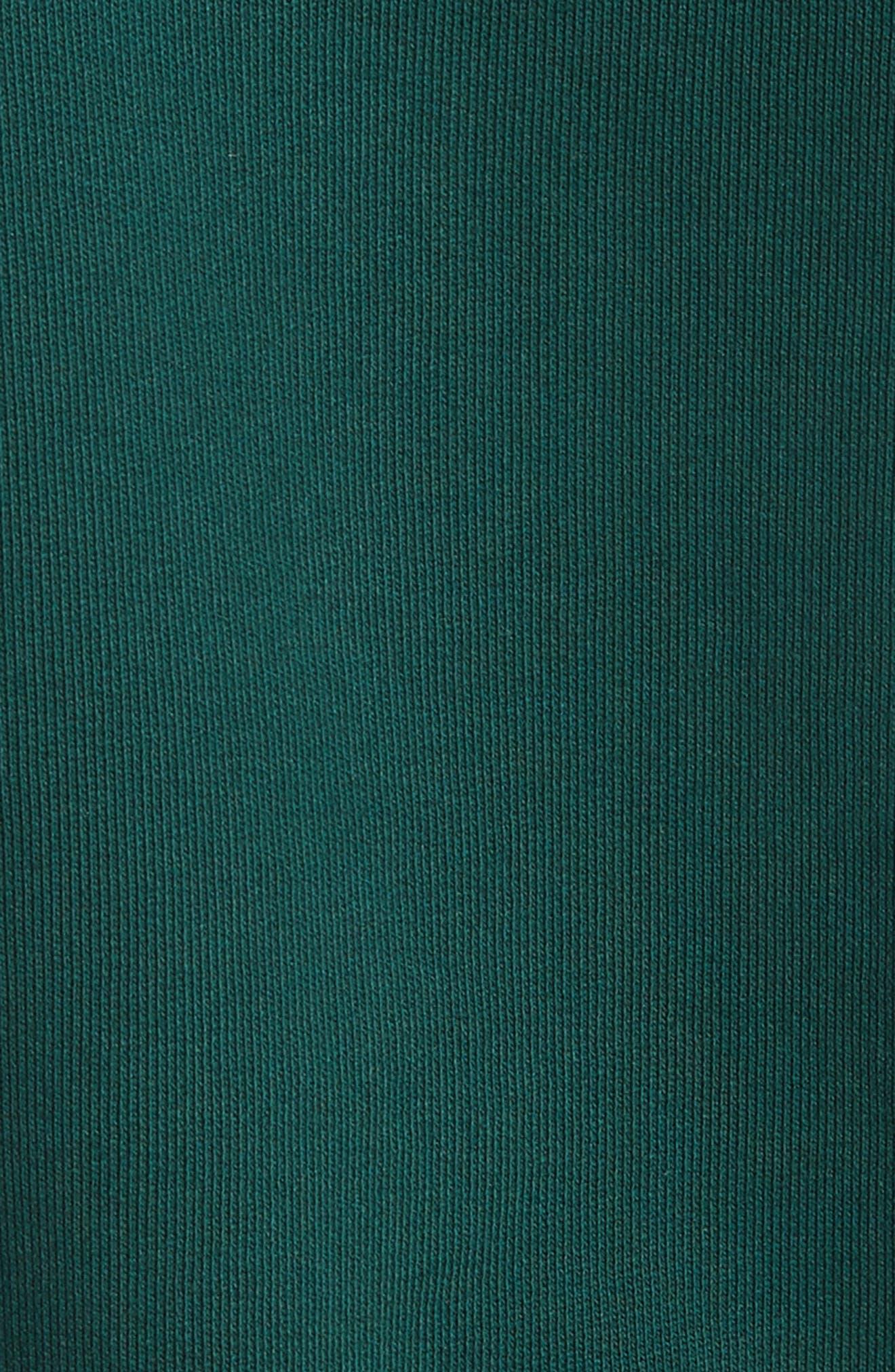 Airlines Crop Crewneck Sweatshirt,                             Alternate thumbnail 5, color,                             Dark Green