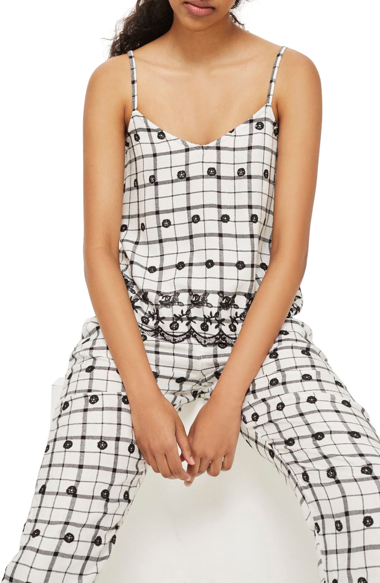 Alternate Image 1 Selected - Topshop Embroidered Camisole