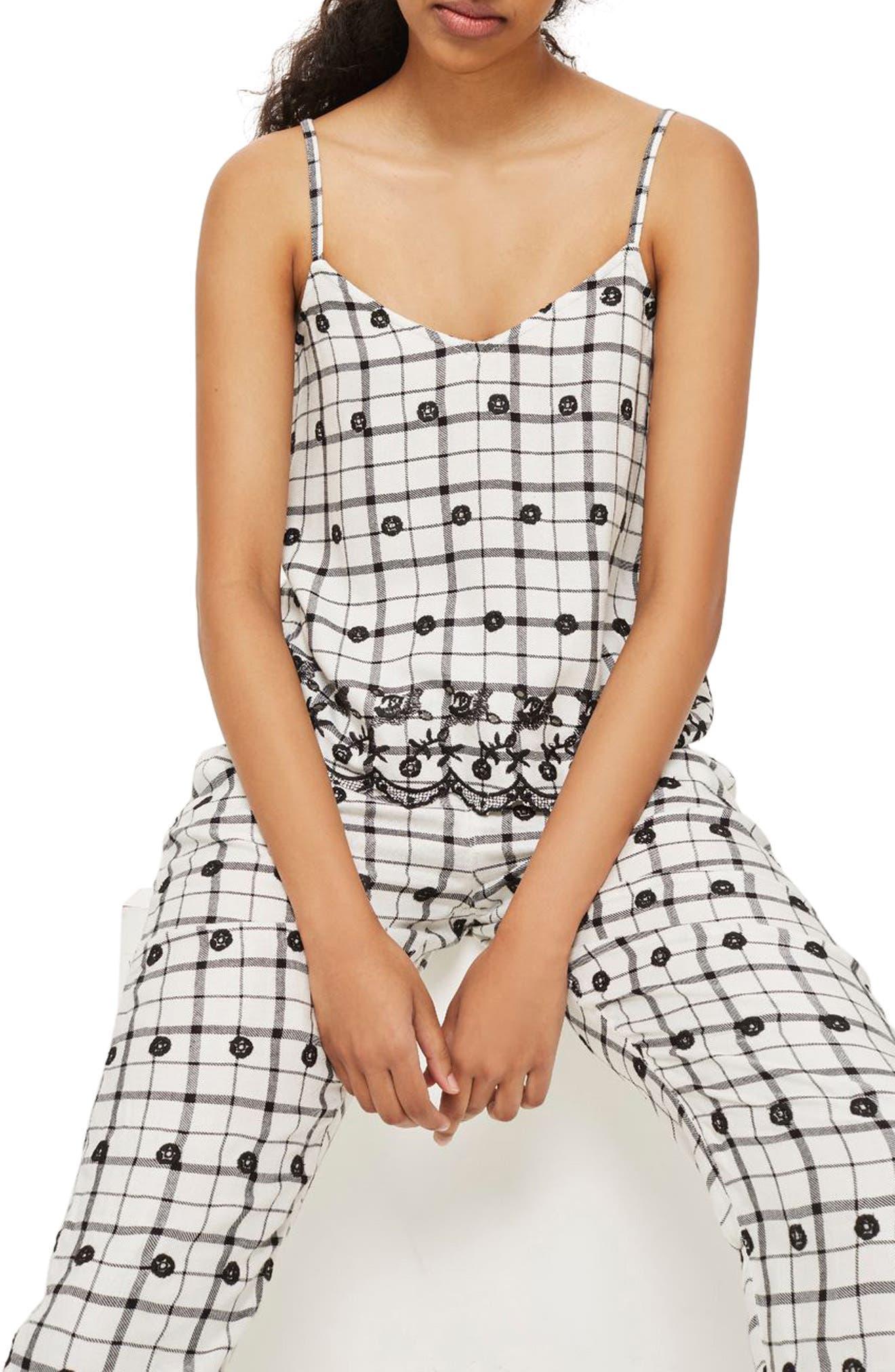 Embroidered Camisole,                         Main,                         color, White Multi