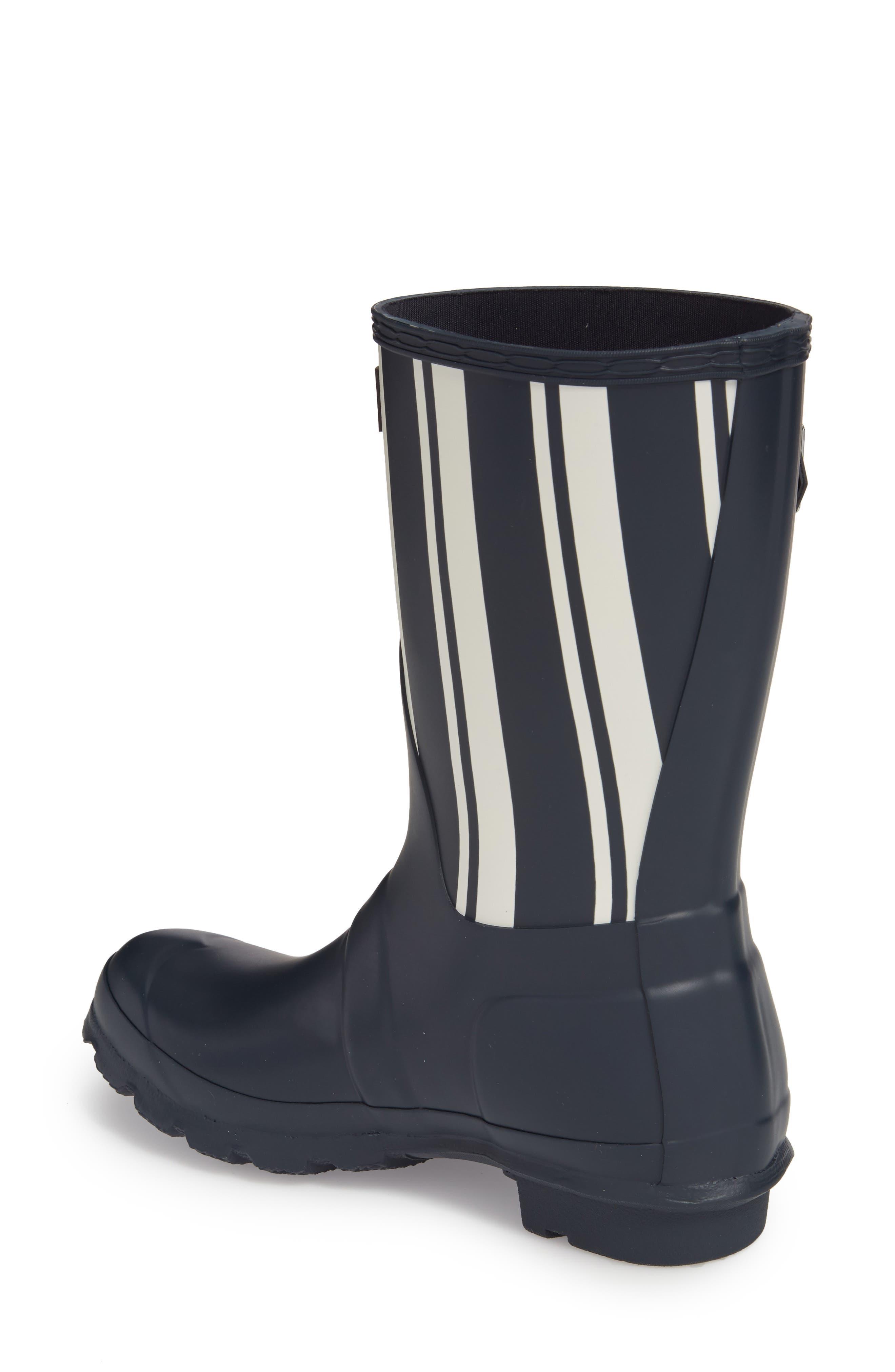 Original Garden Stripe Short Boot,                             Alternate thumbnail 2, color,                             Navy/ White