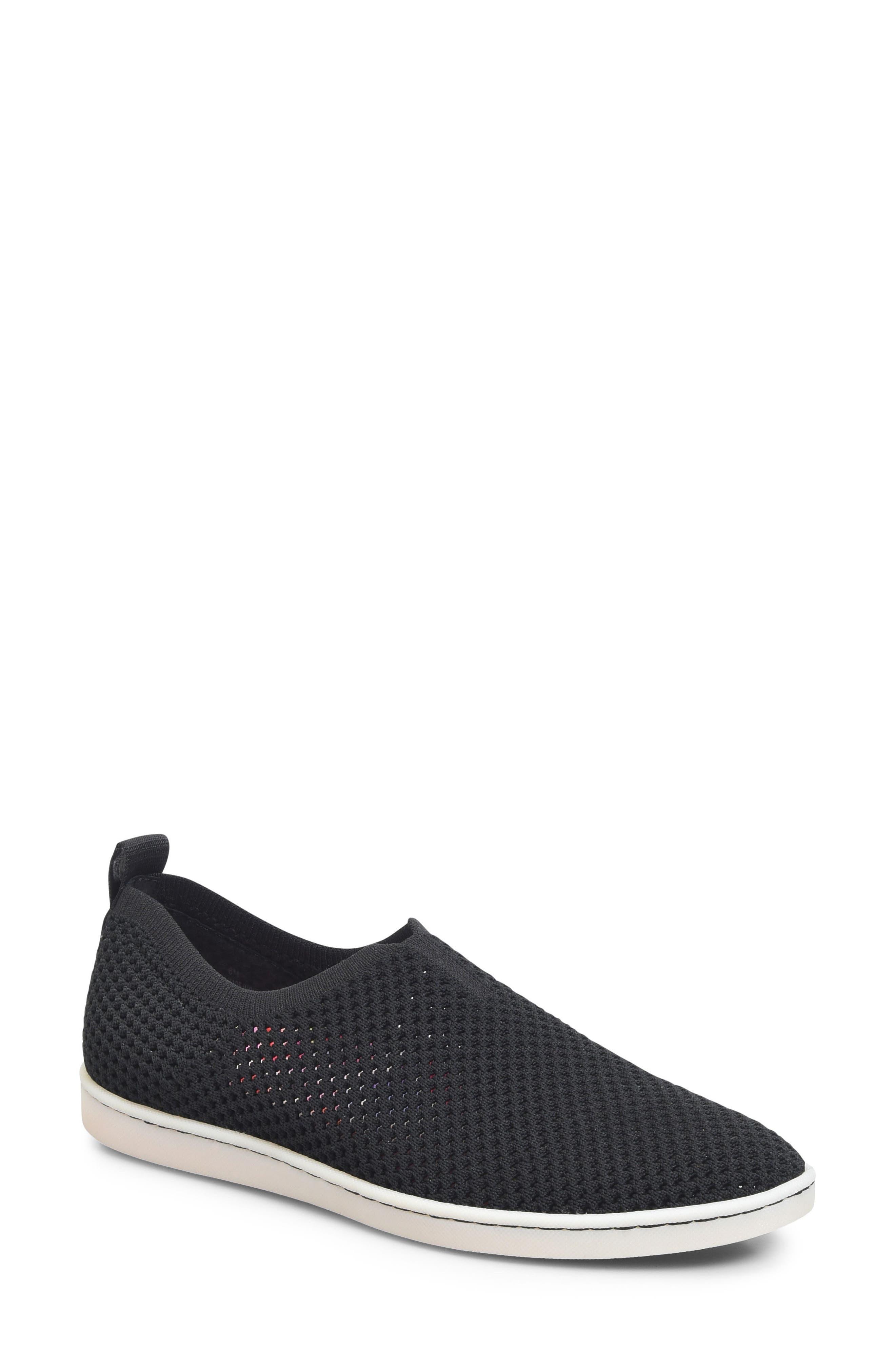 Hazy Slip-On Sneaker,                             Main thumbnail 1, color,                             Black Fabric