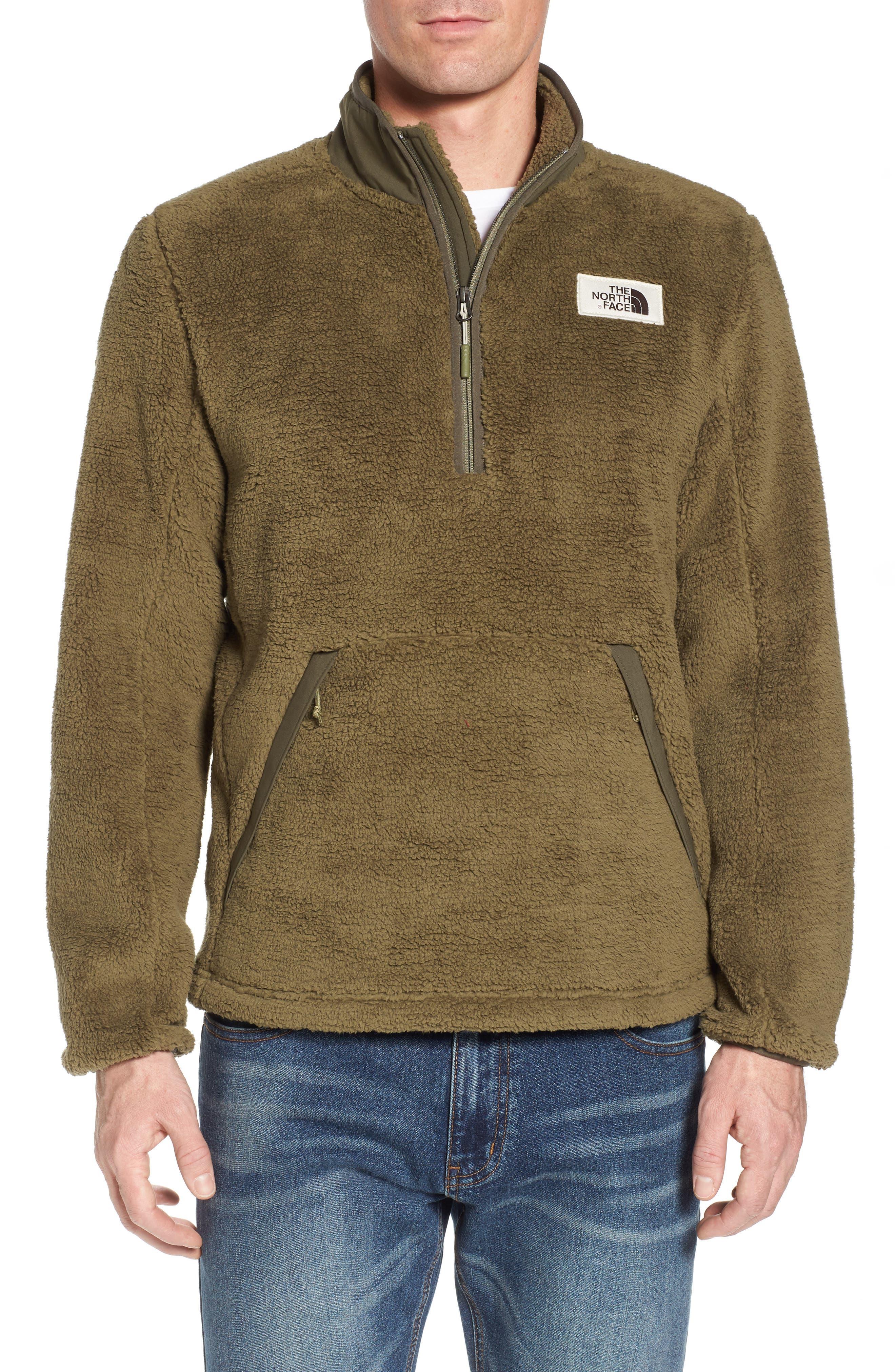 Khampfire Fleece Pullover,                         Main,                         color, Burnt Olive Green