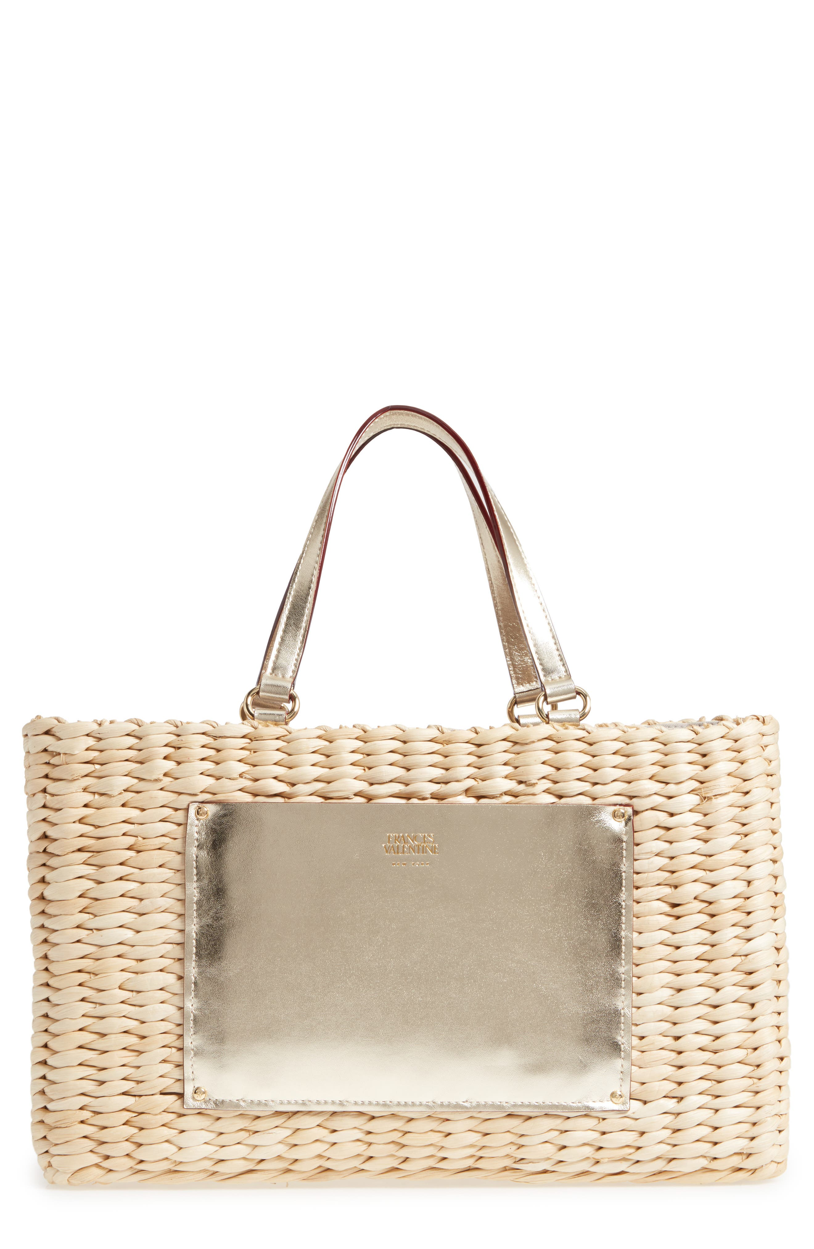 Alternate Image 1 Selected - Frances Valentine Medium Woven Straw Tote