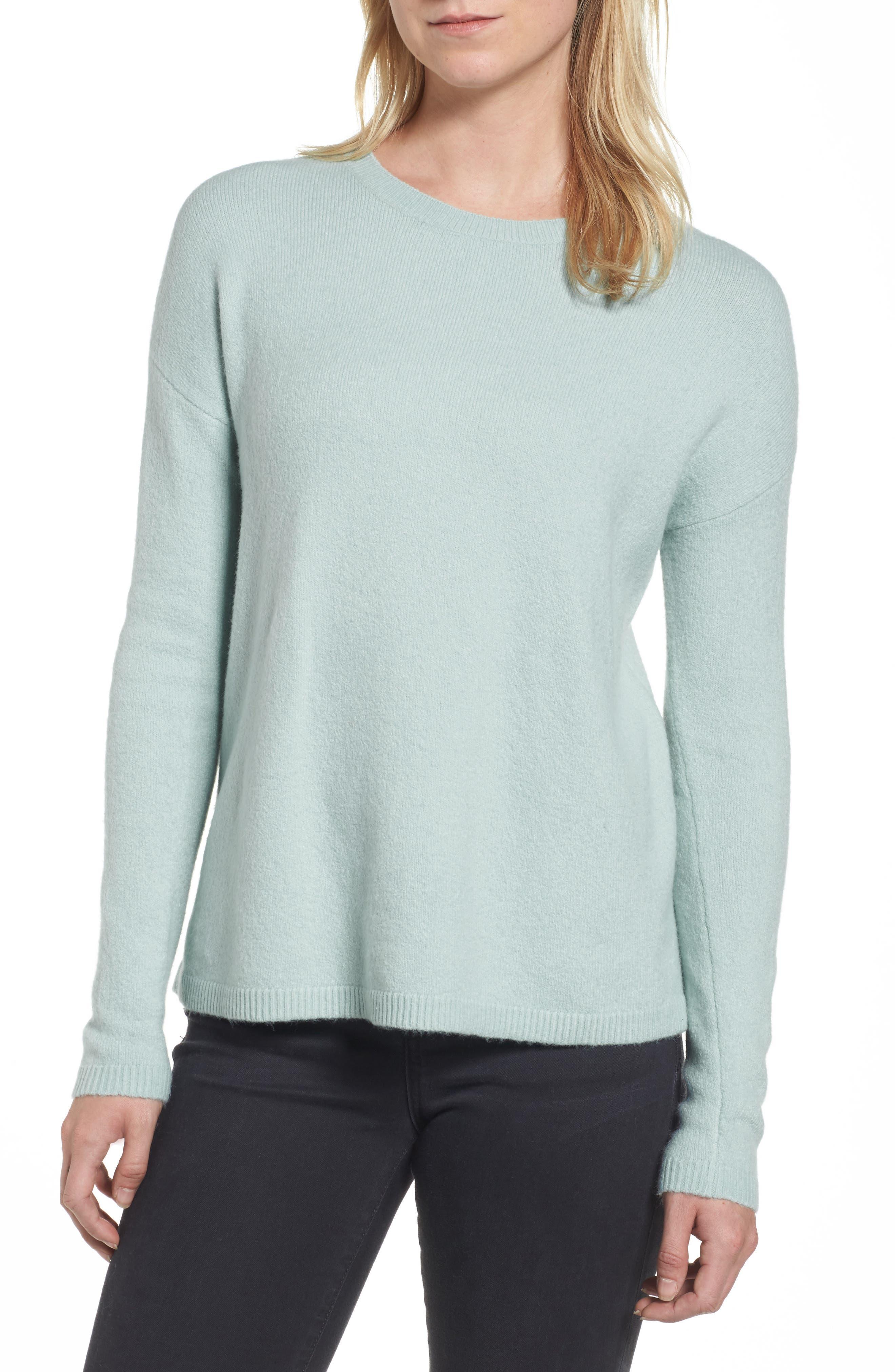 Main Image - Halogen® Bow Back Sweater (Regular & Petite)