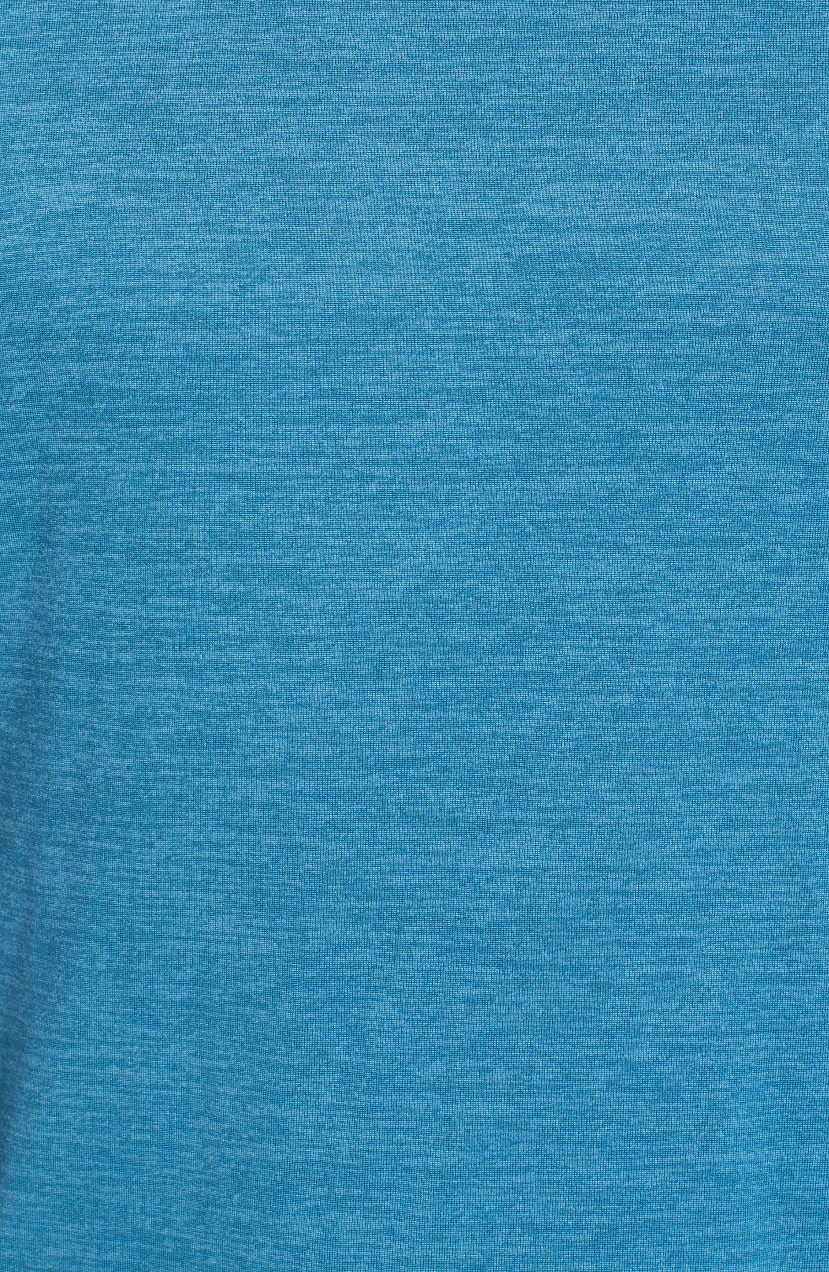 Larosite Performance Hoodie,                             Alternate thumbnail 5, color,                             Blue Granite Melange