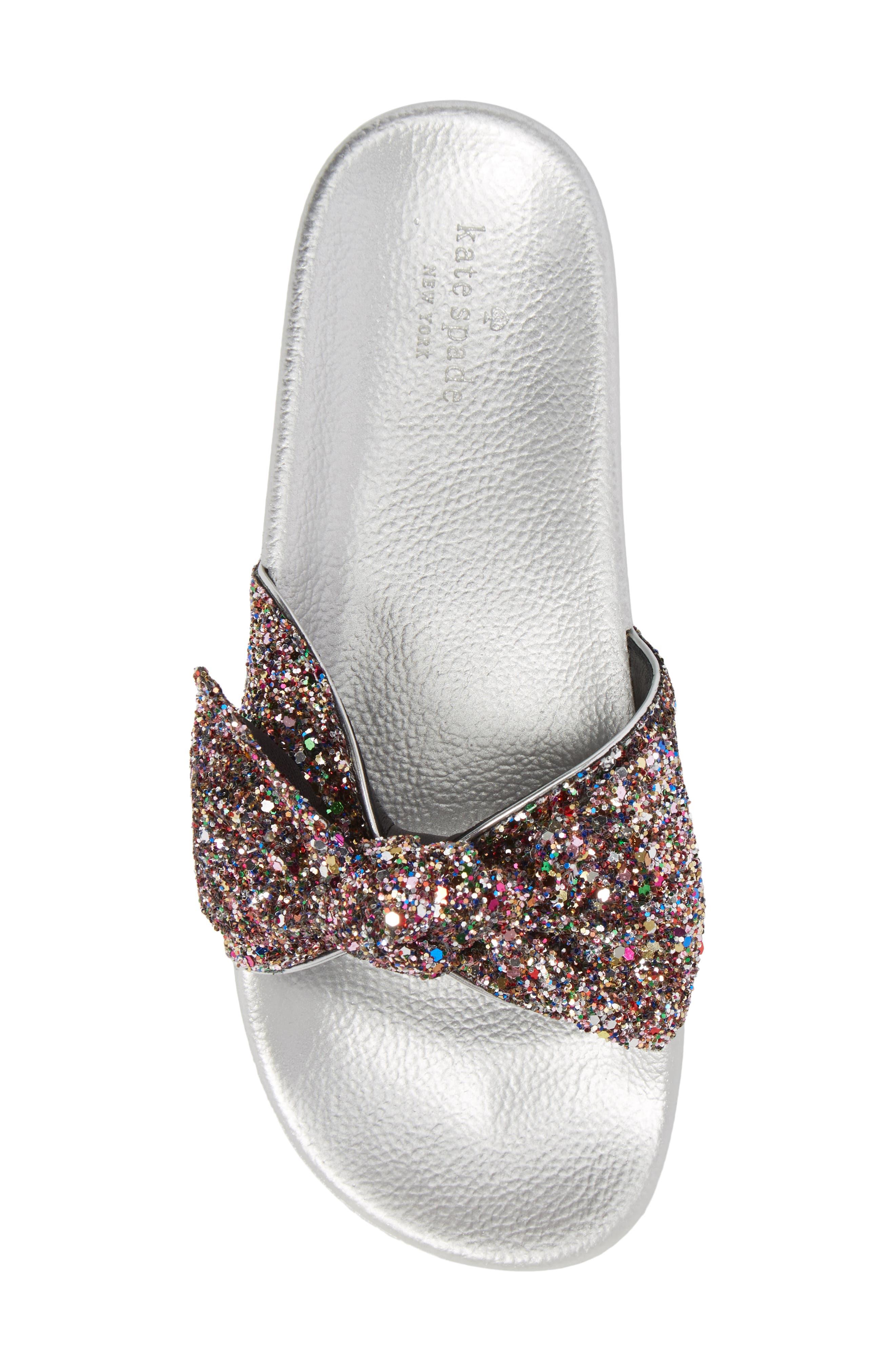 shellie slide sandal,                             Alternate thumbnail 5, color,                             Multi Glitter
