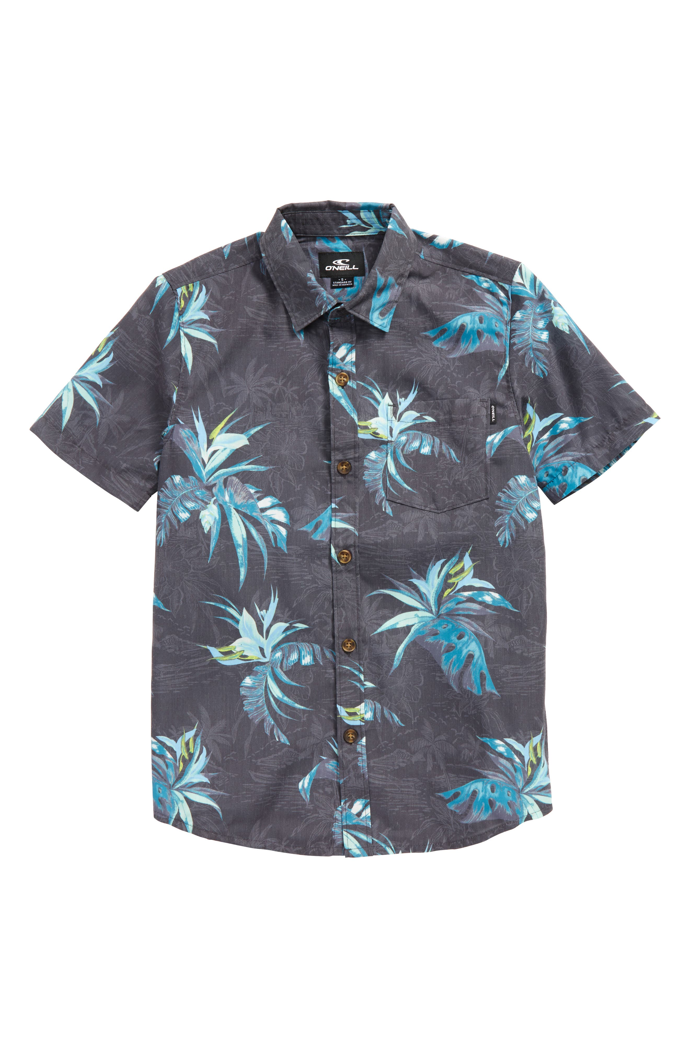 O'Neill Islander Floral Print Woven Shirt (Big Boys)
