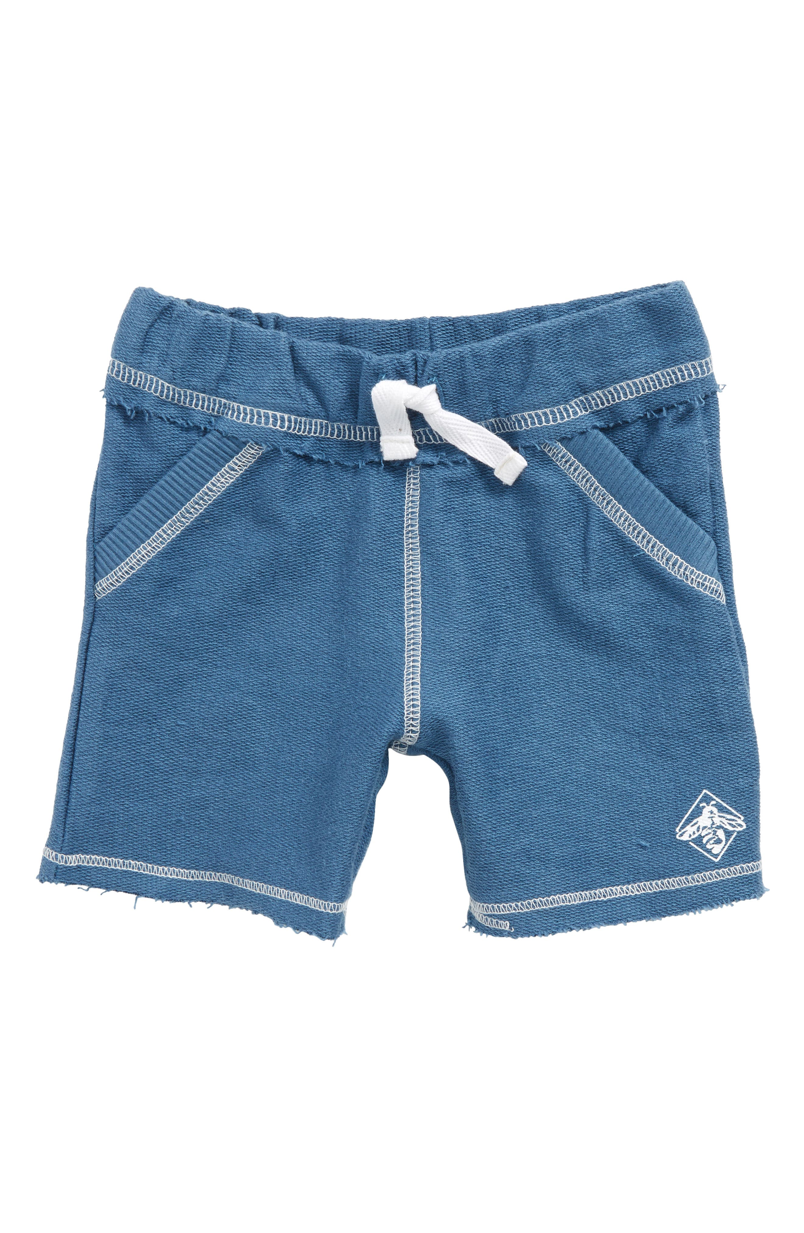 Organic Cotton French Terry Shorts,                             Main thumbnail 1, color,                             Blue Star