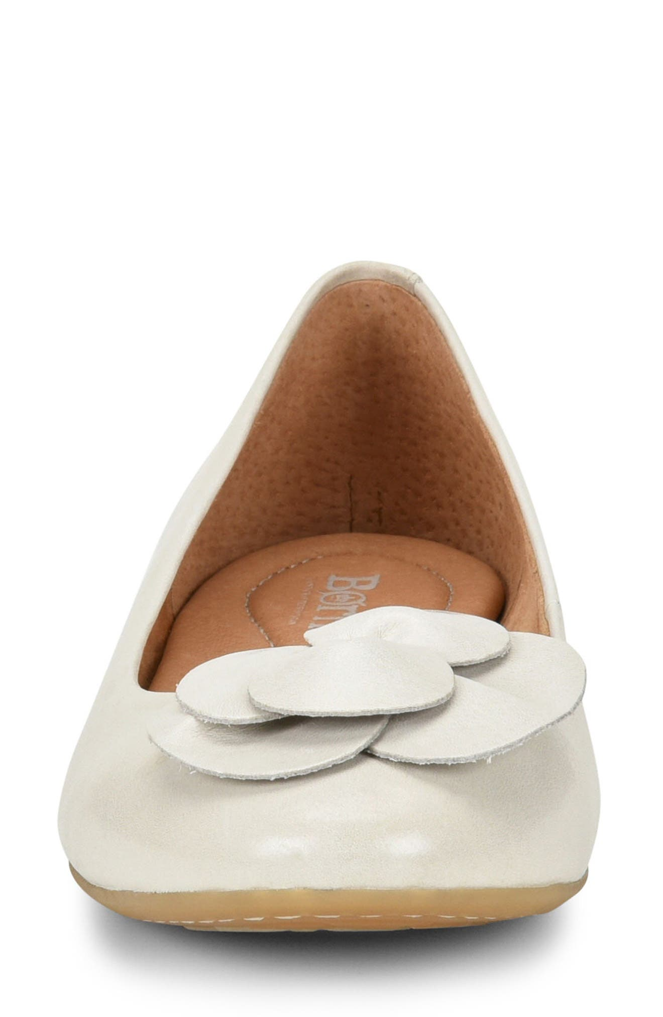 Annelie Flat,                             Alternate thumbnail 4, color,                             White Leather