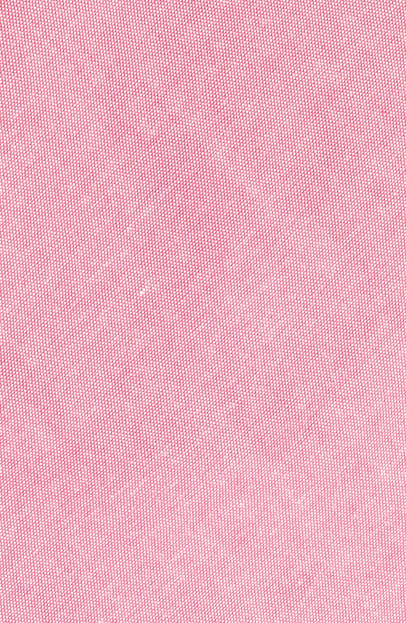 Desmond Solid Cotton Skinny Tie,                             Alternate thumbnail 2, color,                             Rose