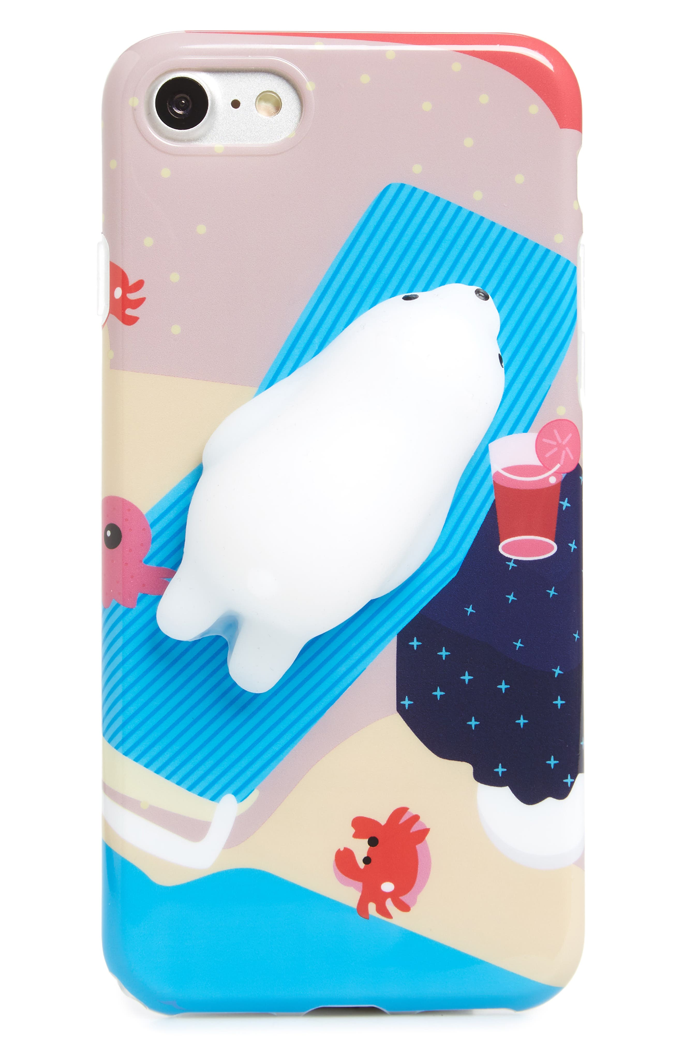 Squishy Polar Bear iPhone 7/8 Case,                             Main thumbnail 1, color,                             Multi