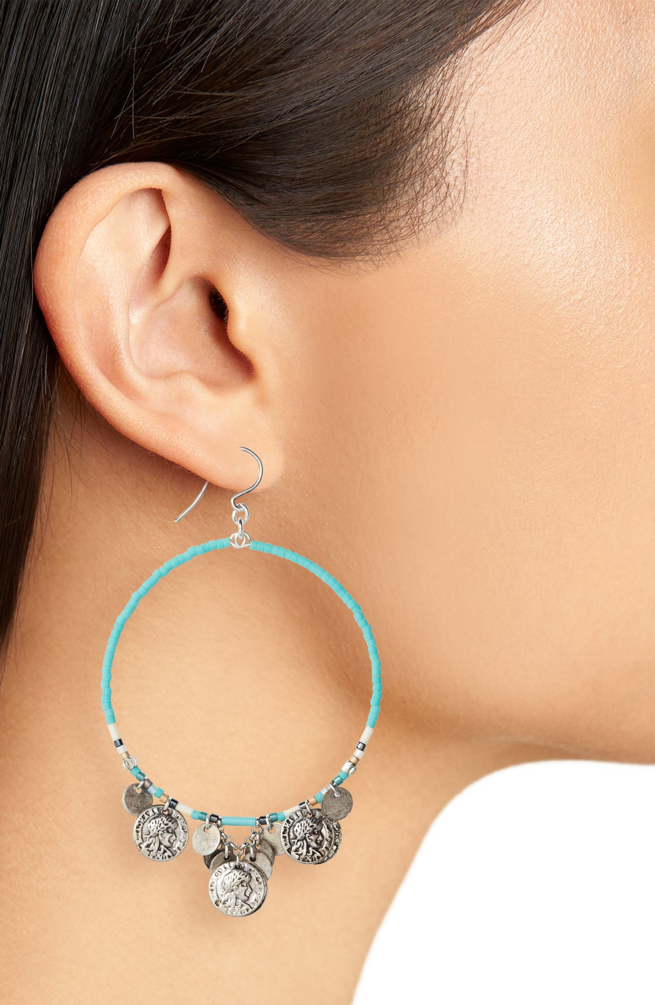 Alternate Image 2  - Chan Luu Coin Hoop Earrings
