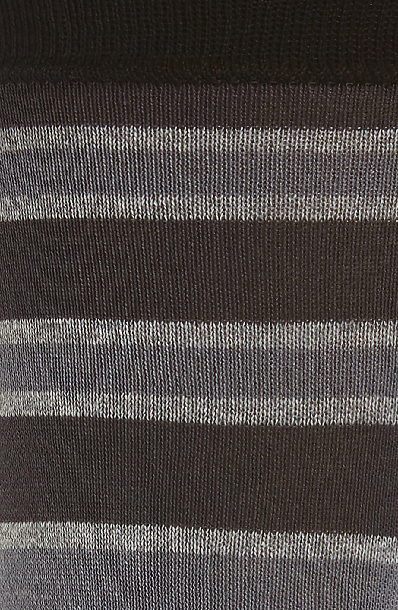 Stripe Mercerized Cotton Blend Socks,                             Alternate thumbnail 2, color,                             Charcoal