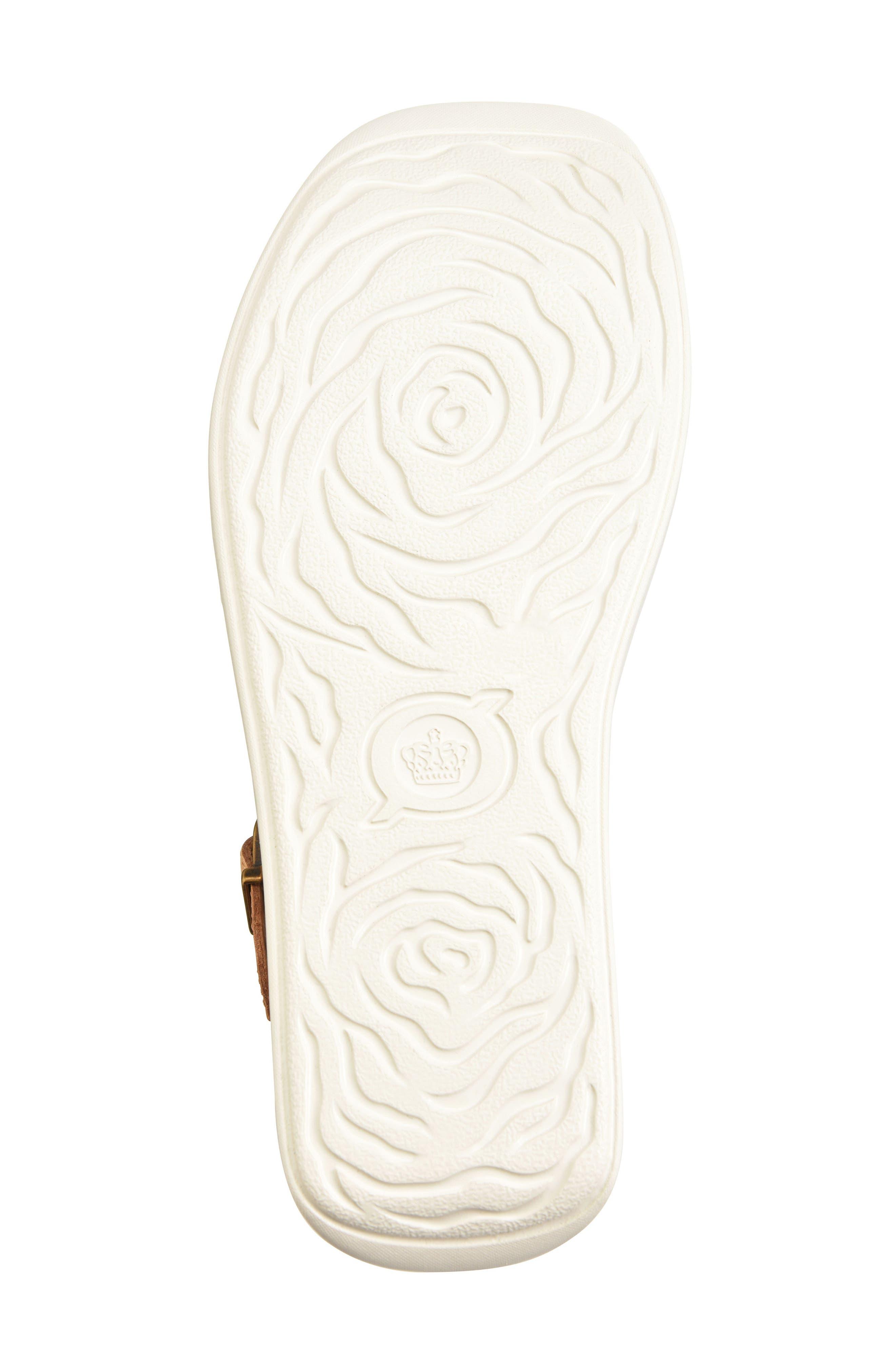 Breaker Platform Sandal,                             Alternate thumbnail 6, color,                             Light Blue/ Tan Leather