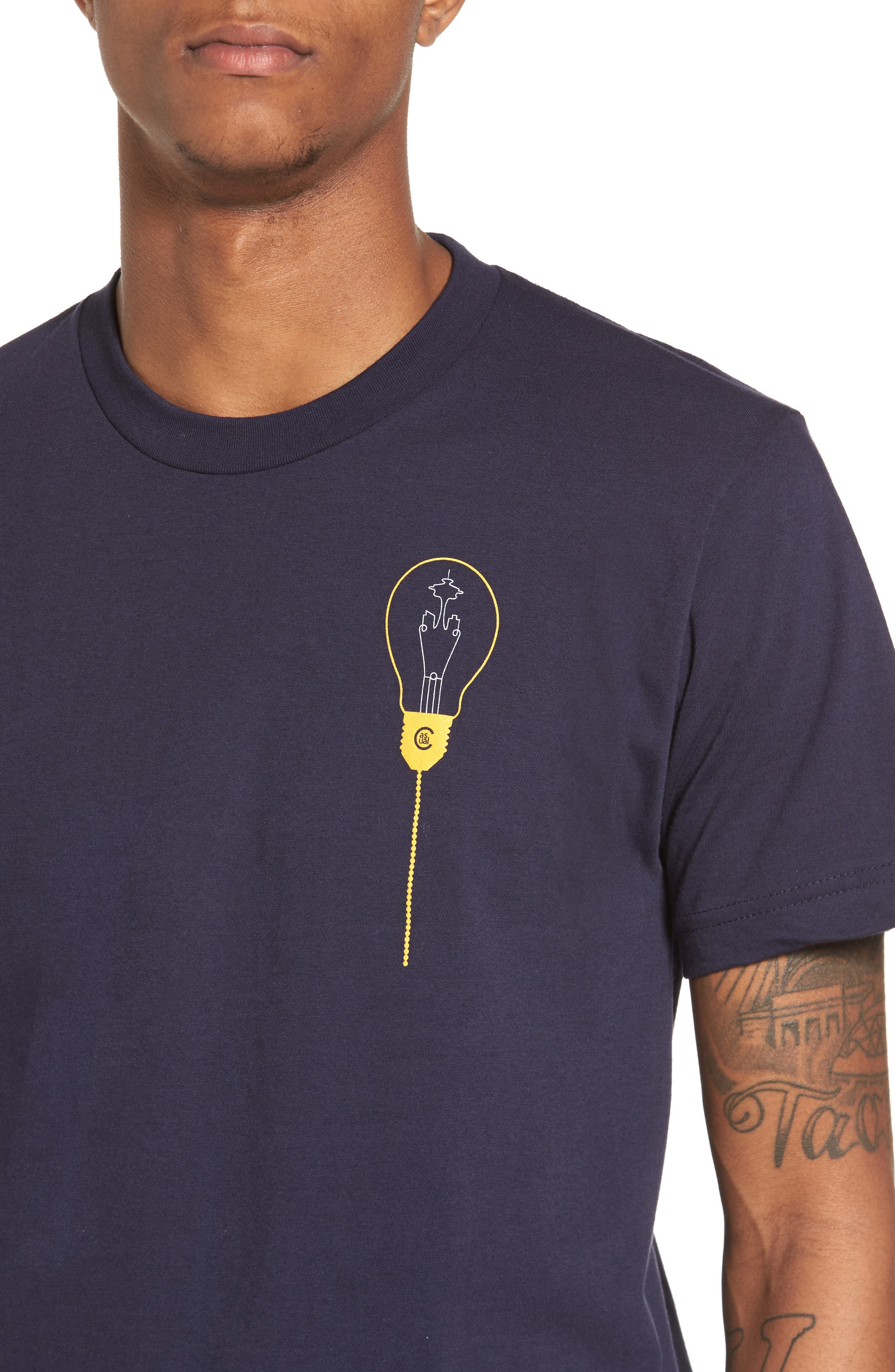 Keeping Seatown Lit T-Shirt,                             Alternate thumbnail 4, color,                             Navy