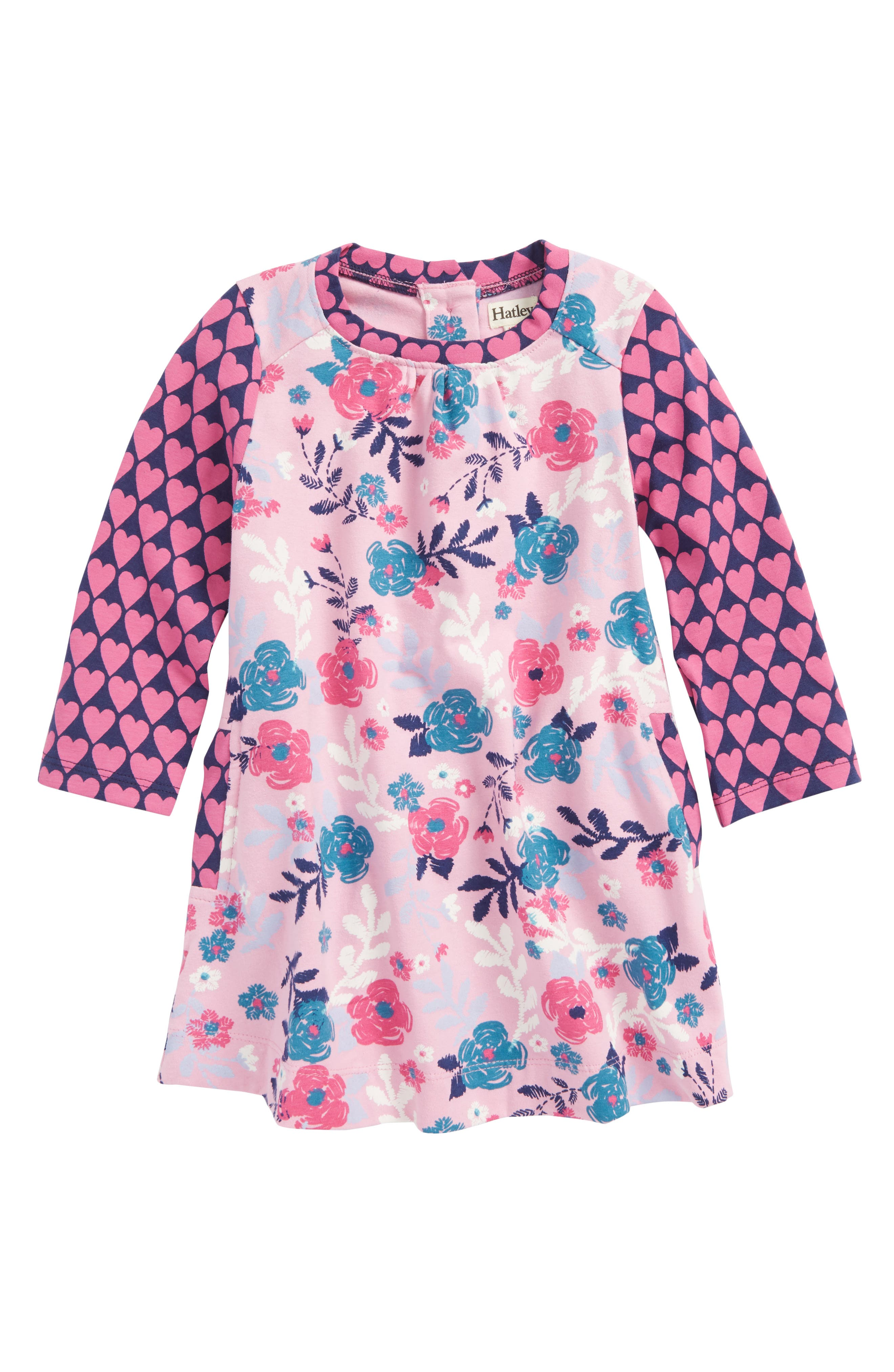 Mini Swing Dress,                         Main,                         color, Wintery Blooms