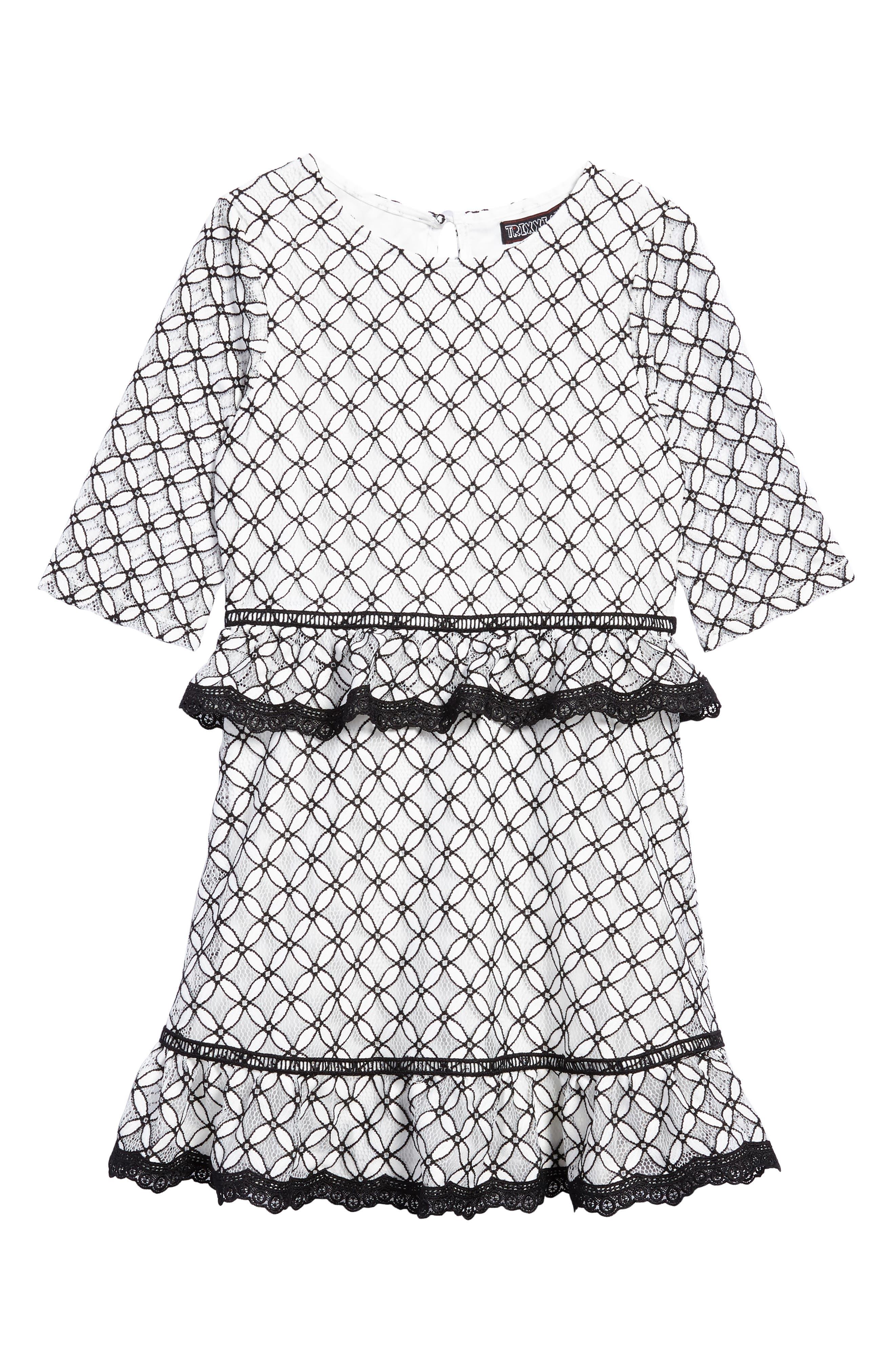 Main Image - Trixxi Tiered Lace Dress (Big Girls)