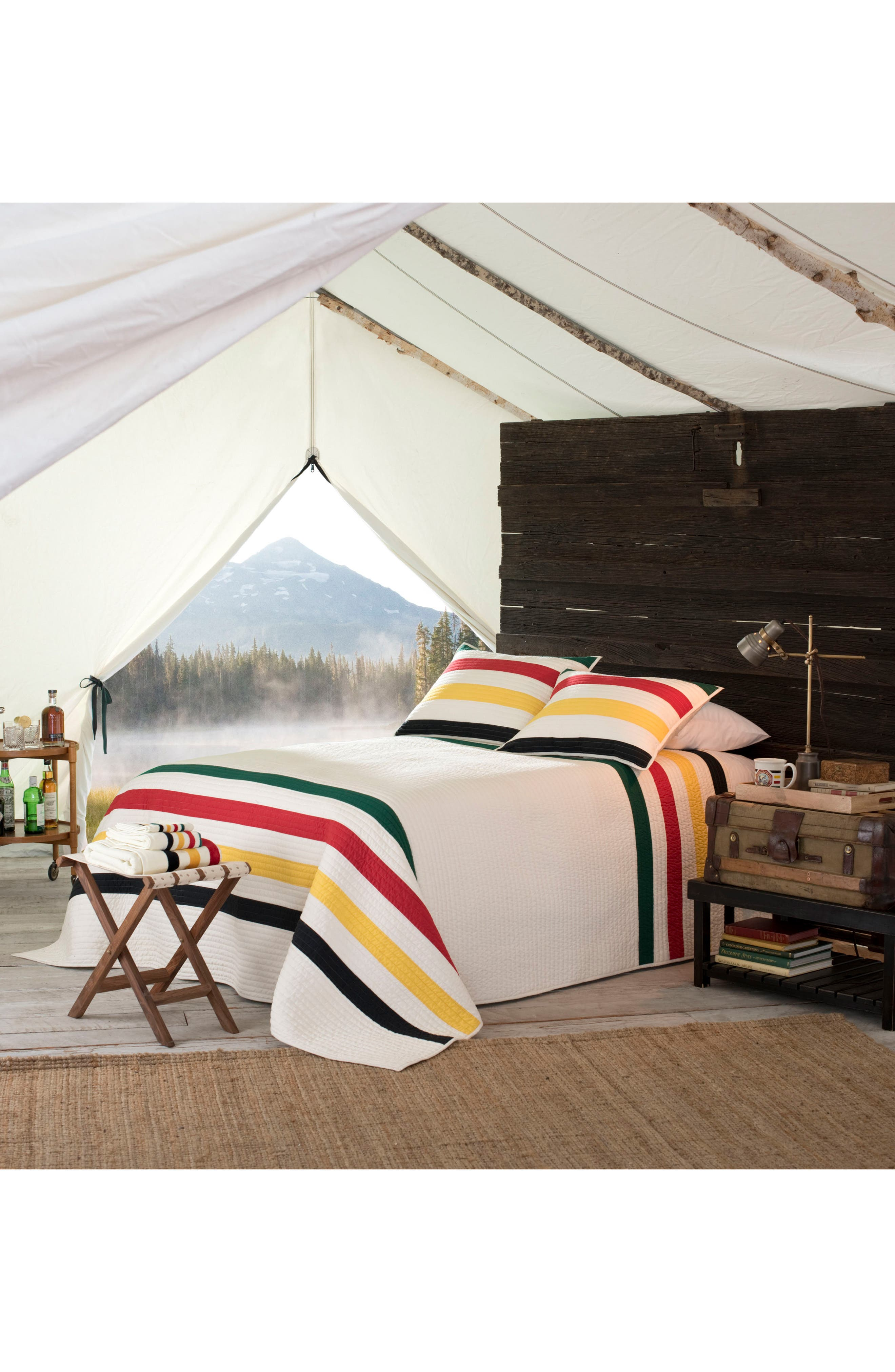 pendleton national park stripe quilt u0026 sham set