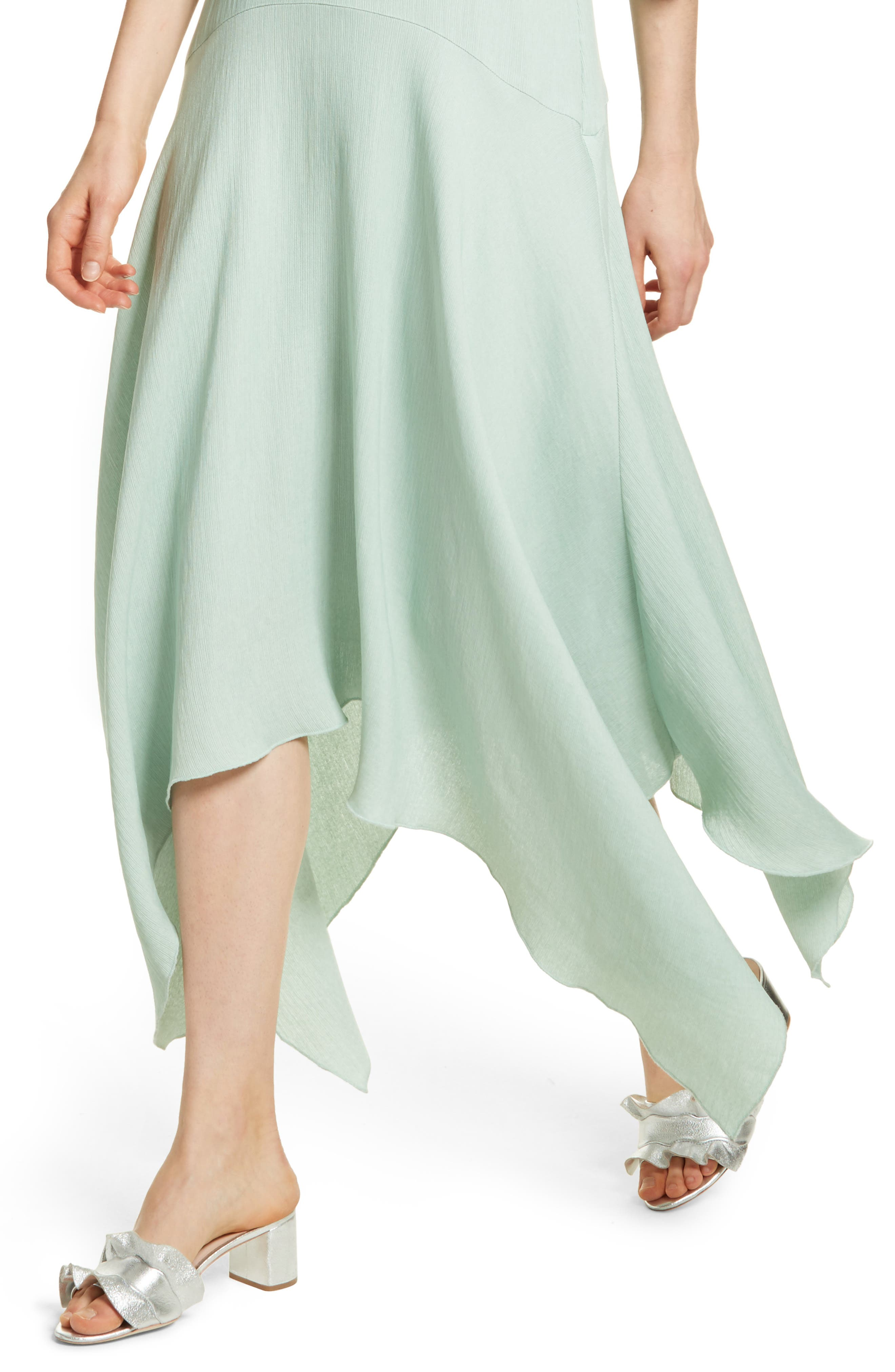Prose & Poetry Vivianna Drop Waist Midi Dress,                             Alternate thumbnail 4, color,                             Aqua Foam