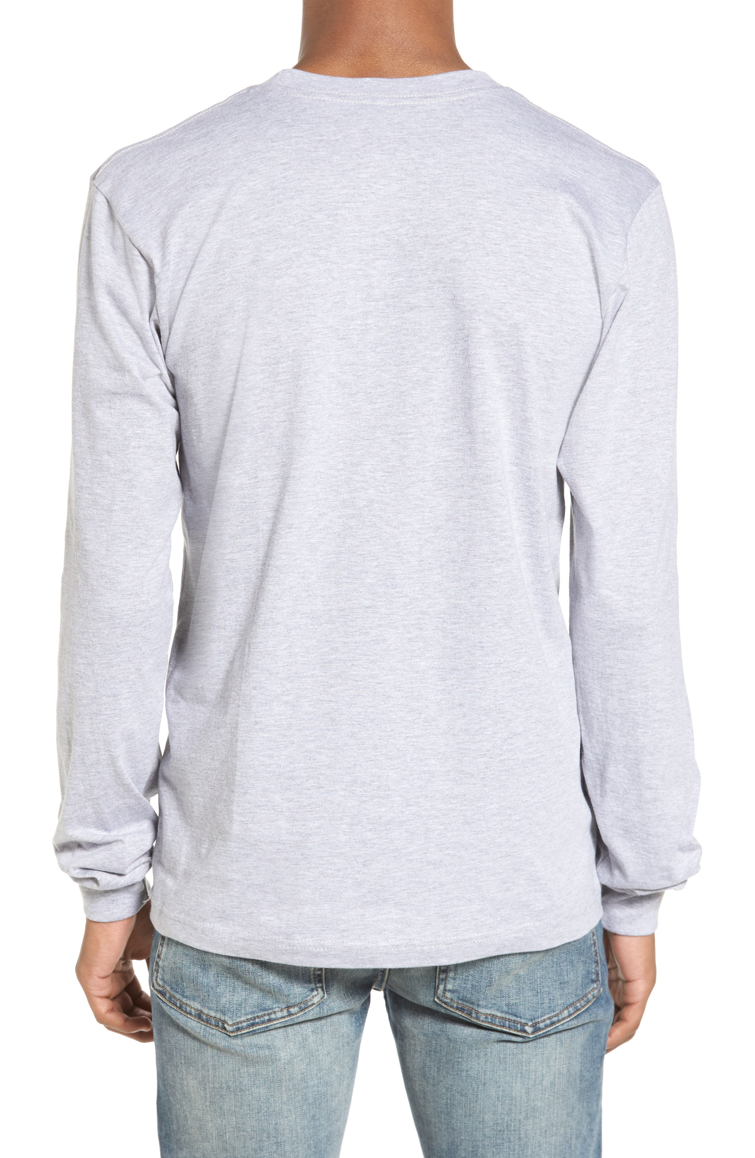 PNW Shield Sweatshirt,                             Alternate thumbnail 2, color,                             Heather Grey