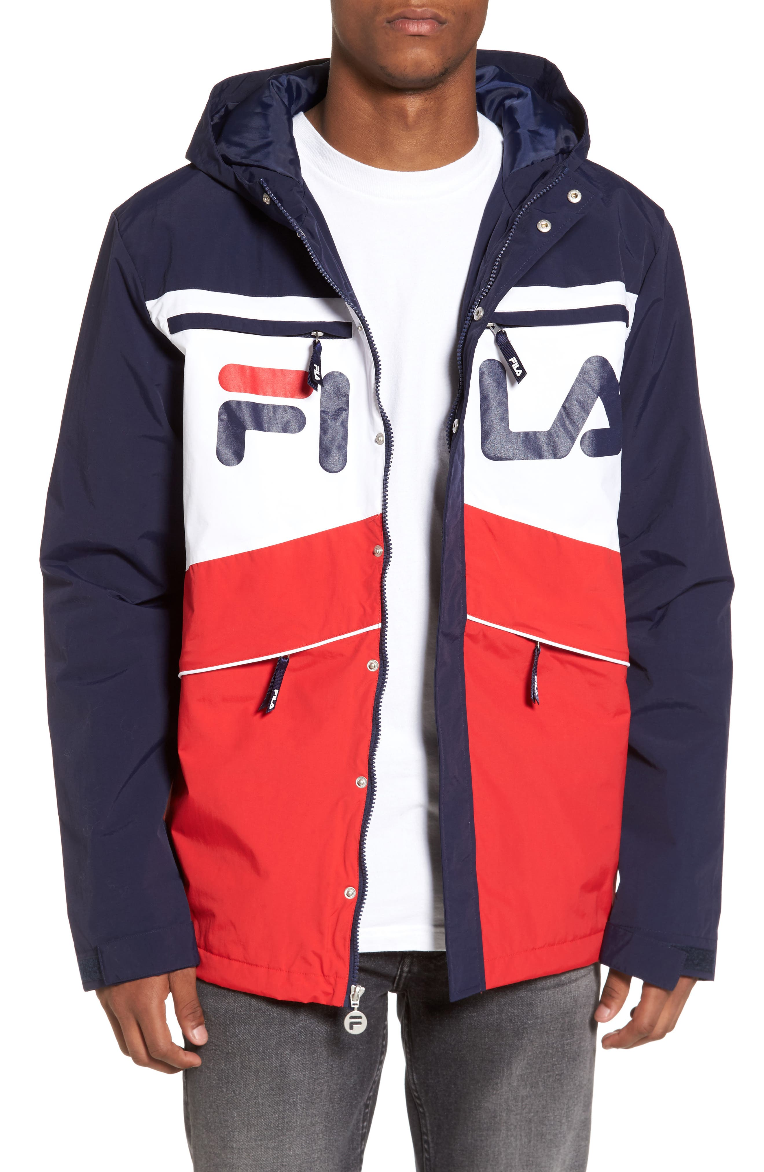 Linden Jacket,                             Main thumbnail 1, color,                             Navy/ White/ Chinese Red