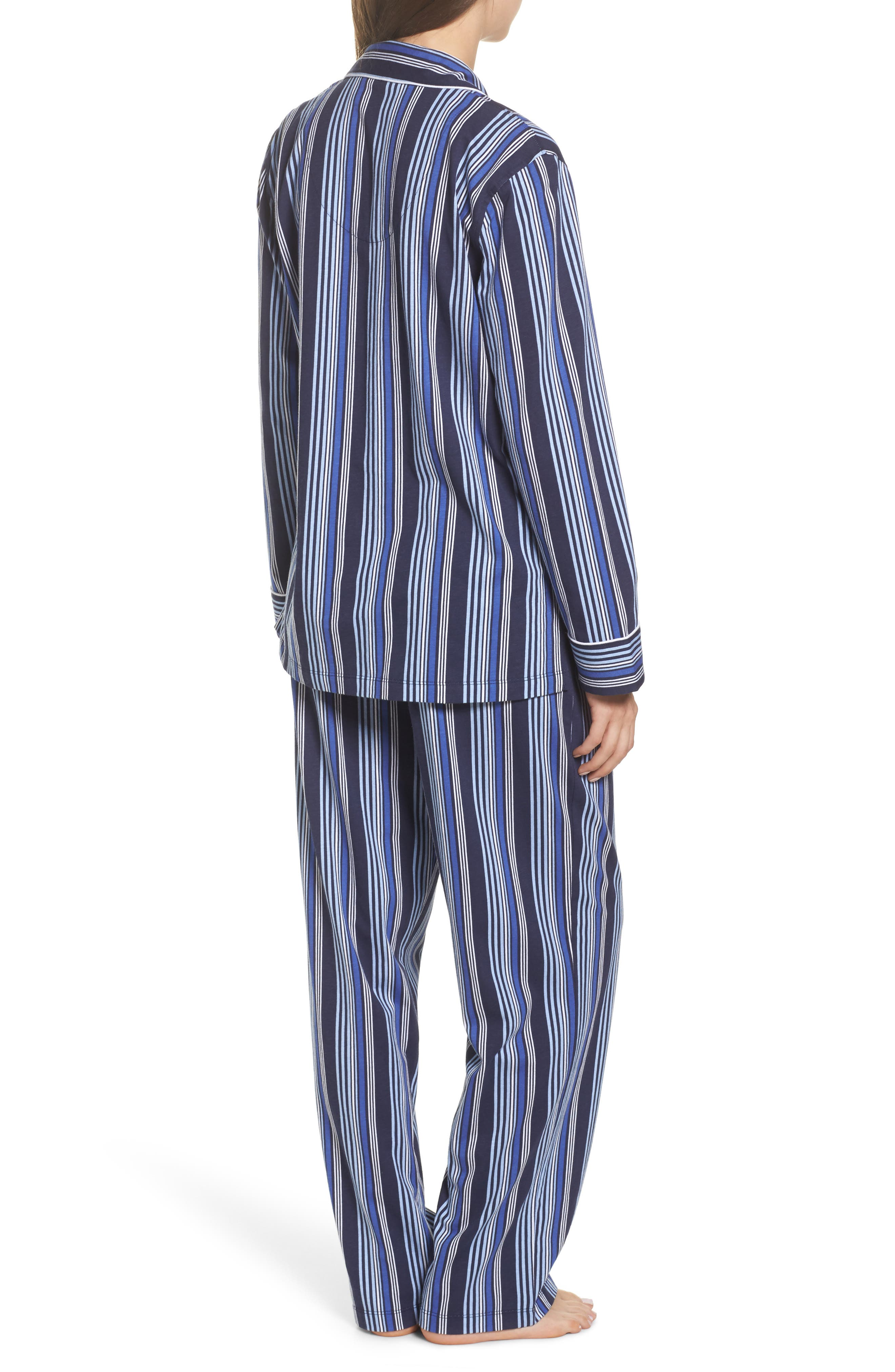 Cotton Pajamas,                             Alternate thumbnail 2, color,                             Blue Stripe