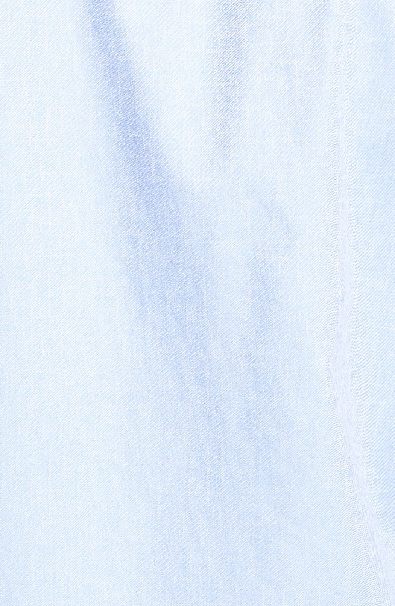 Shaped Fit Sport Shirt,                             Alternate thumbnail 5, color,                             Sky