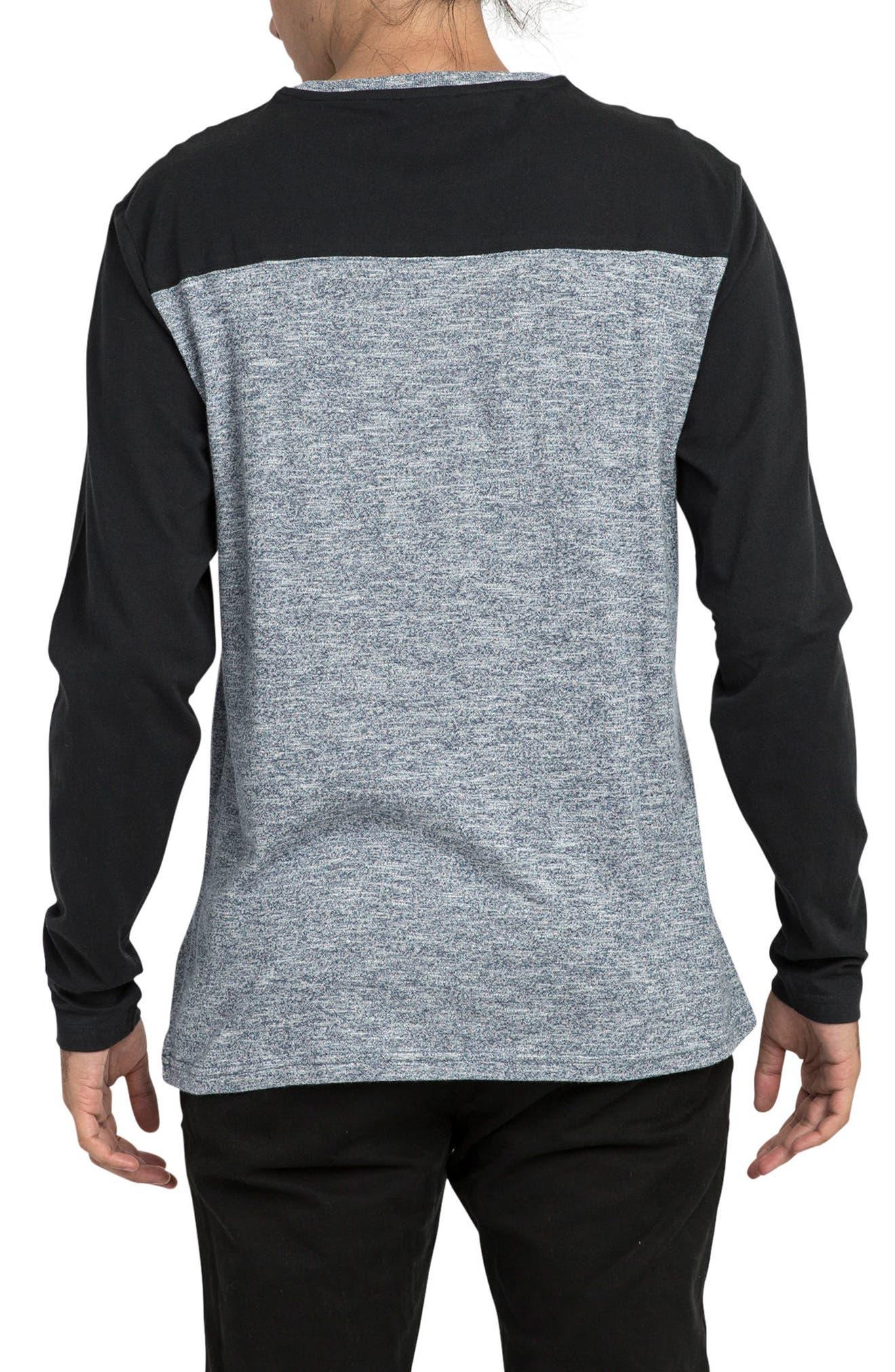 Coast to Coast Colorblock T-Shirt,                             Alternate thumbnail 2, color,                             Black