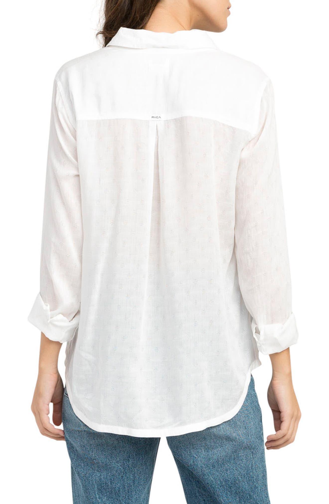 Alternate Image 3  - RVCA Denver Button Front Shirt