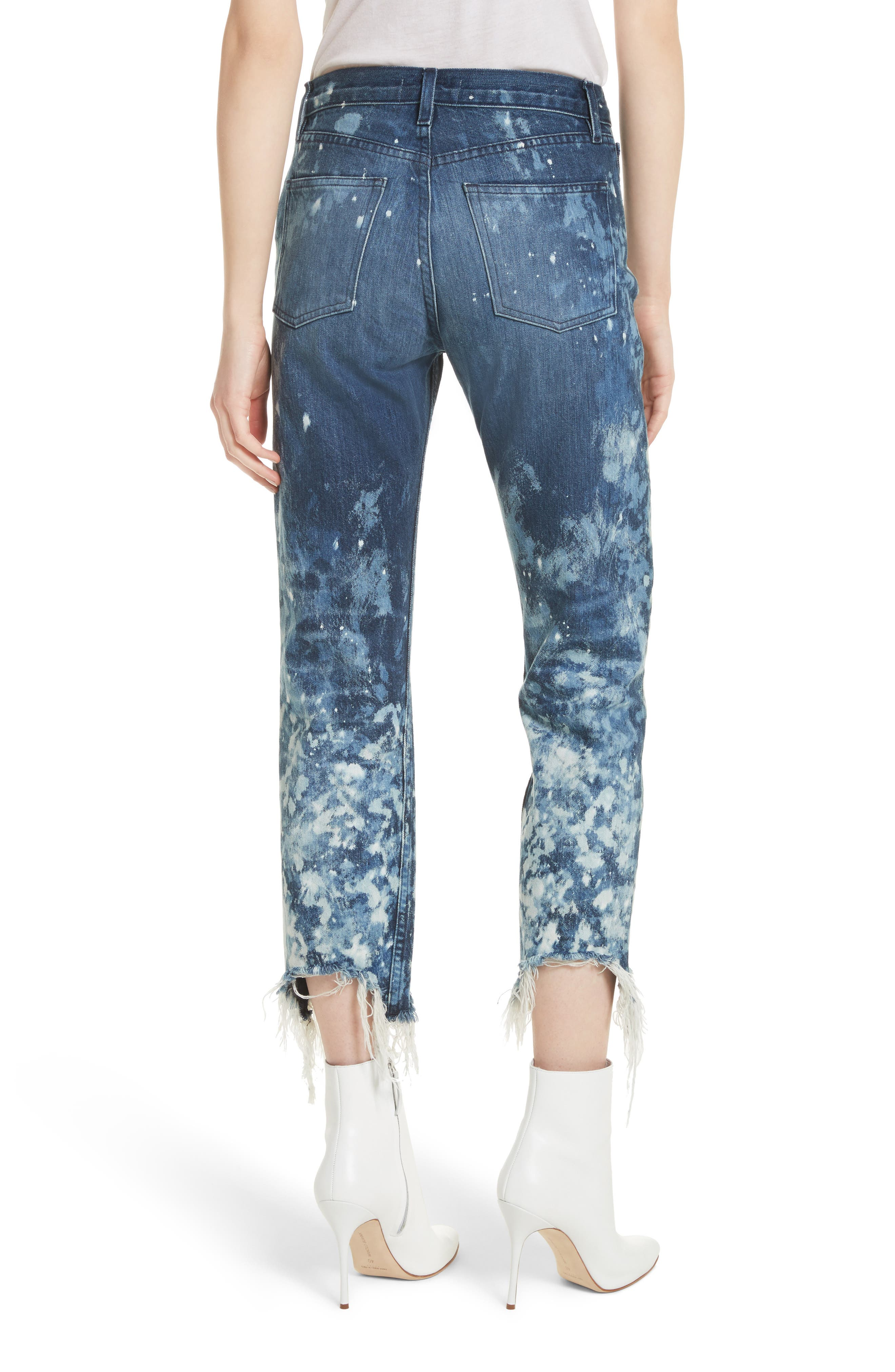 W3 Higher Ground Bleached Ankle Slim Fit Jeans,                             Alternate thumbnail 3, color,                             Stardust