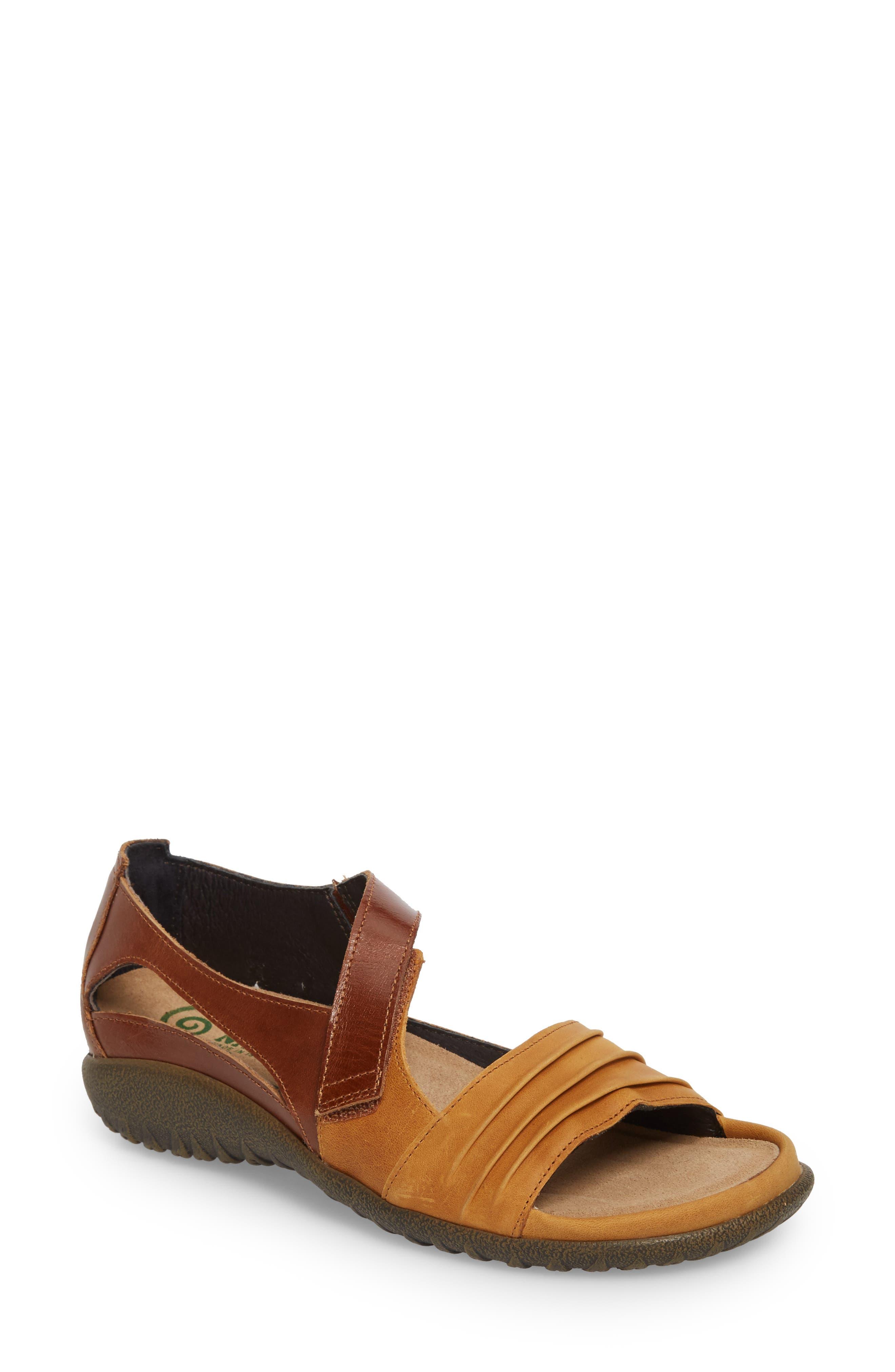 'Papaki' Sandal,                             Main thumbnail 1, color,                             Oily Dune Nubuck