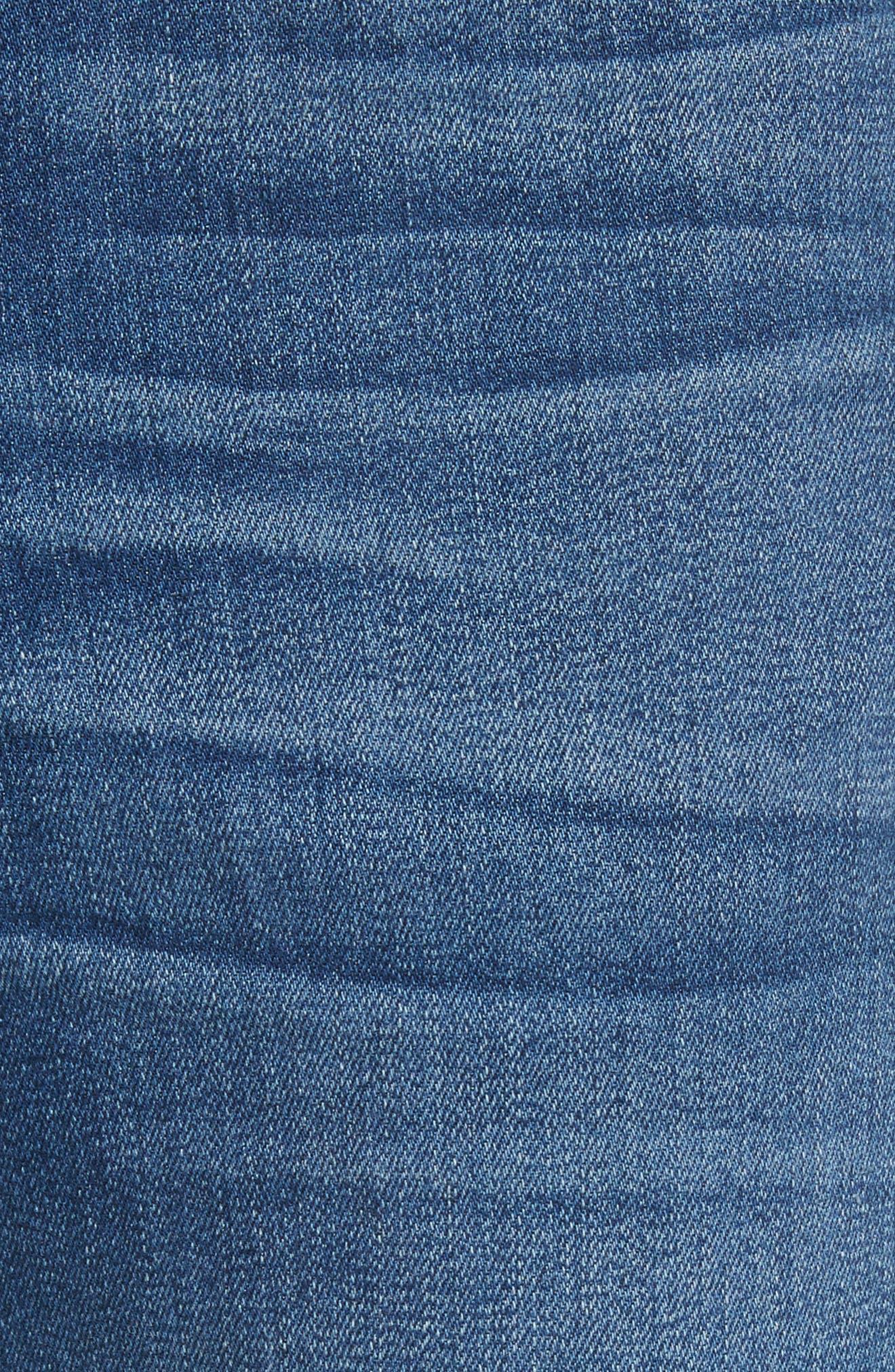 W4 Adeline High Waist Split Flare Jeans,                             Alternate thumbnail 5, color,                             Leia