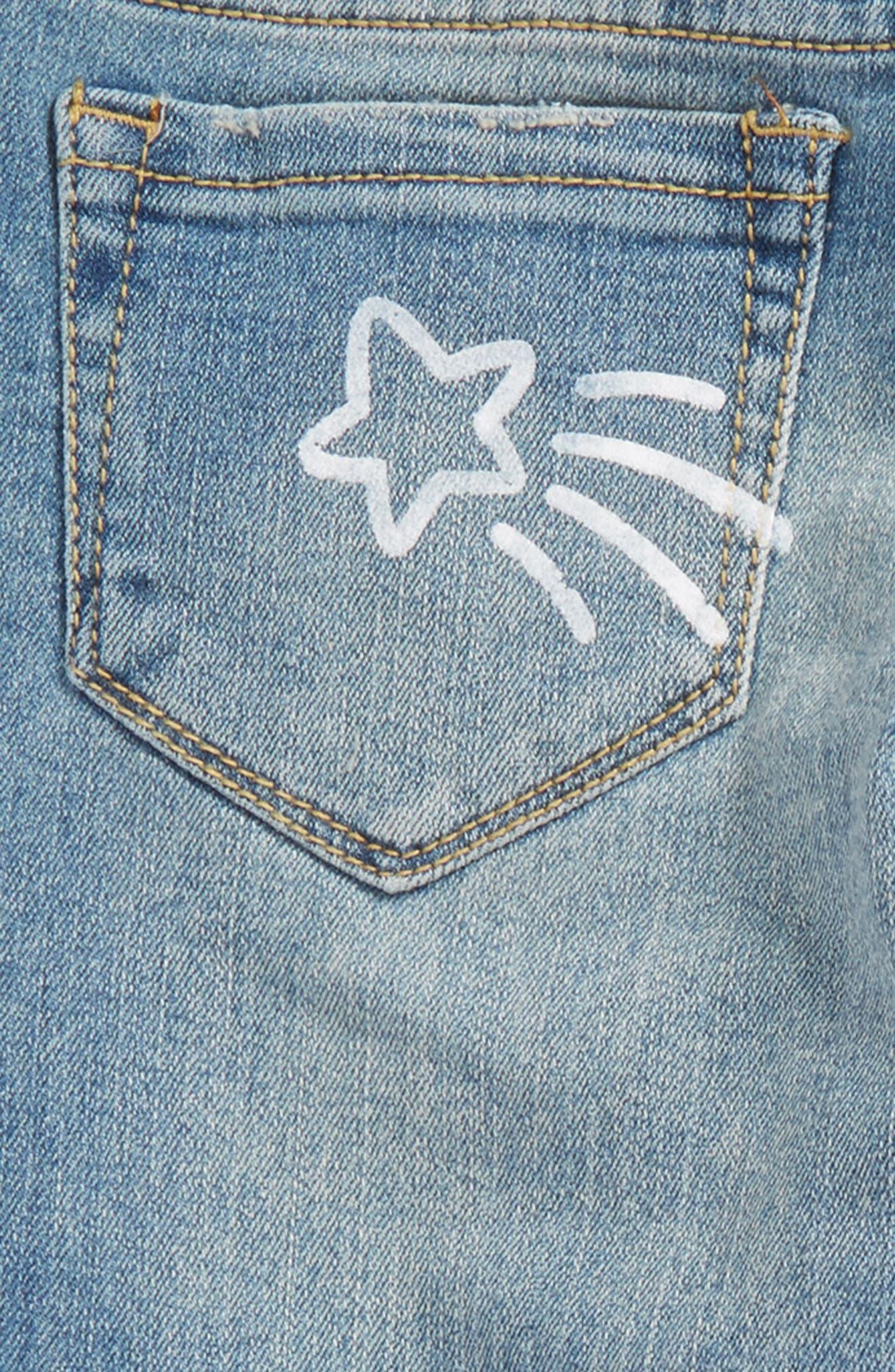 Alternate Image 3  - Tucker + Tate Conversational Distressed Skinny Jeans (Big Girls)