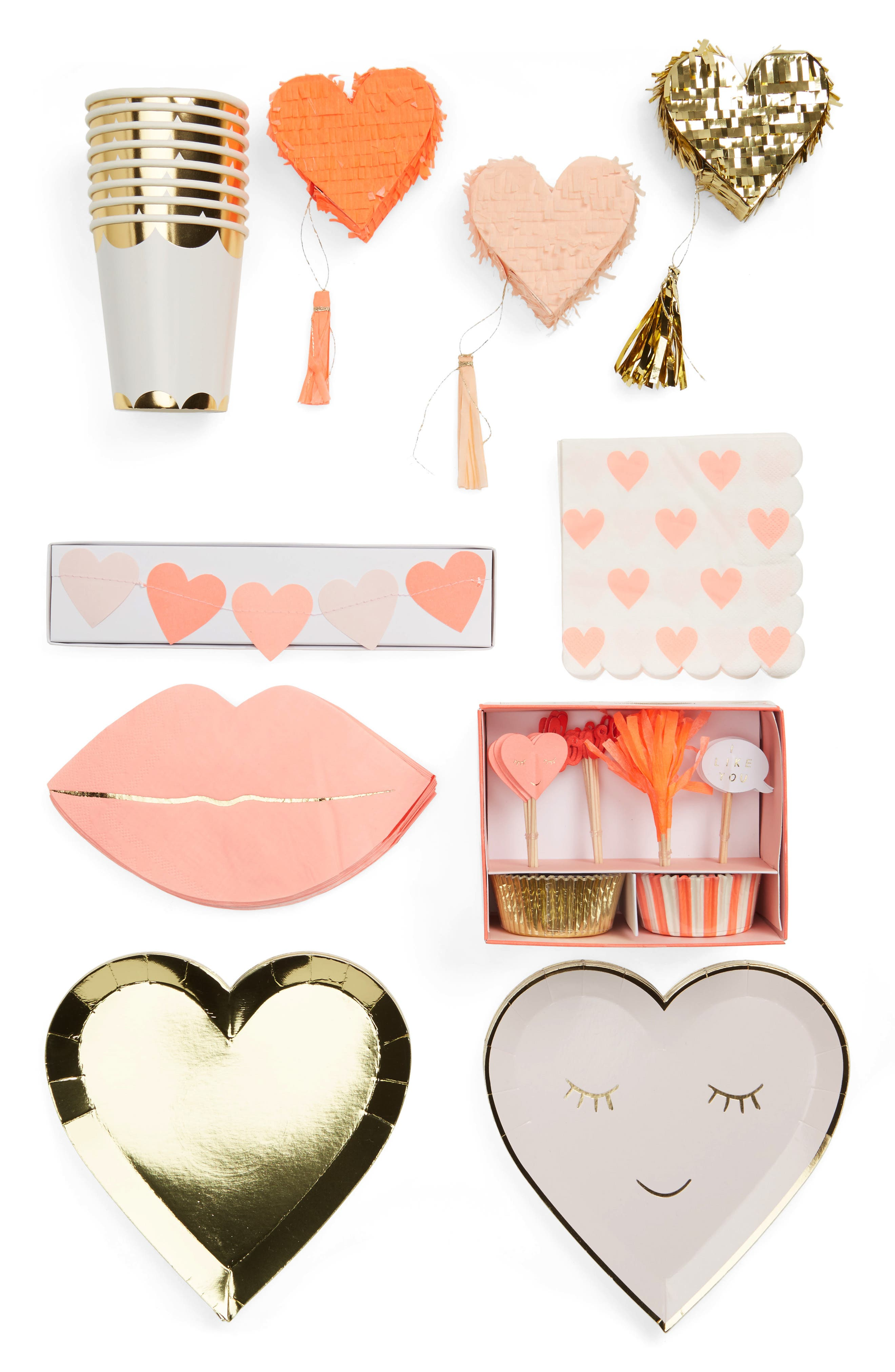 Valentine's Day Party Bundle,                             Main thumbnail 1, color,                             Pink