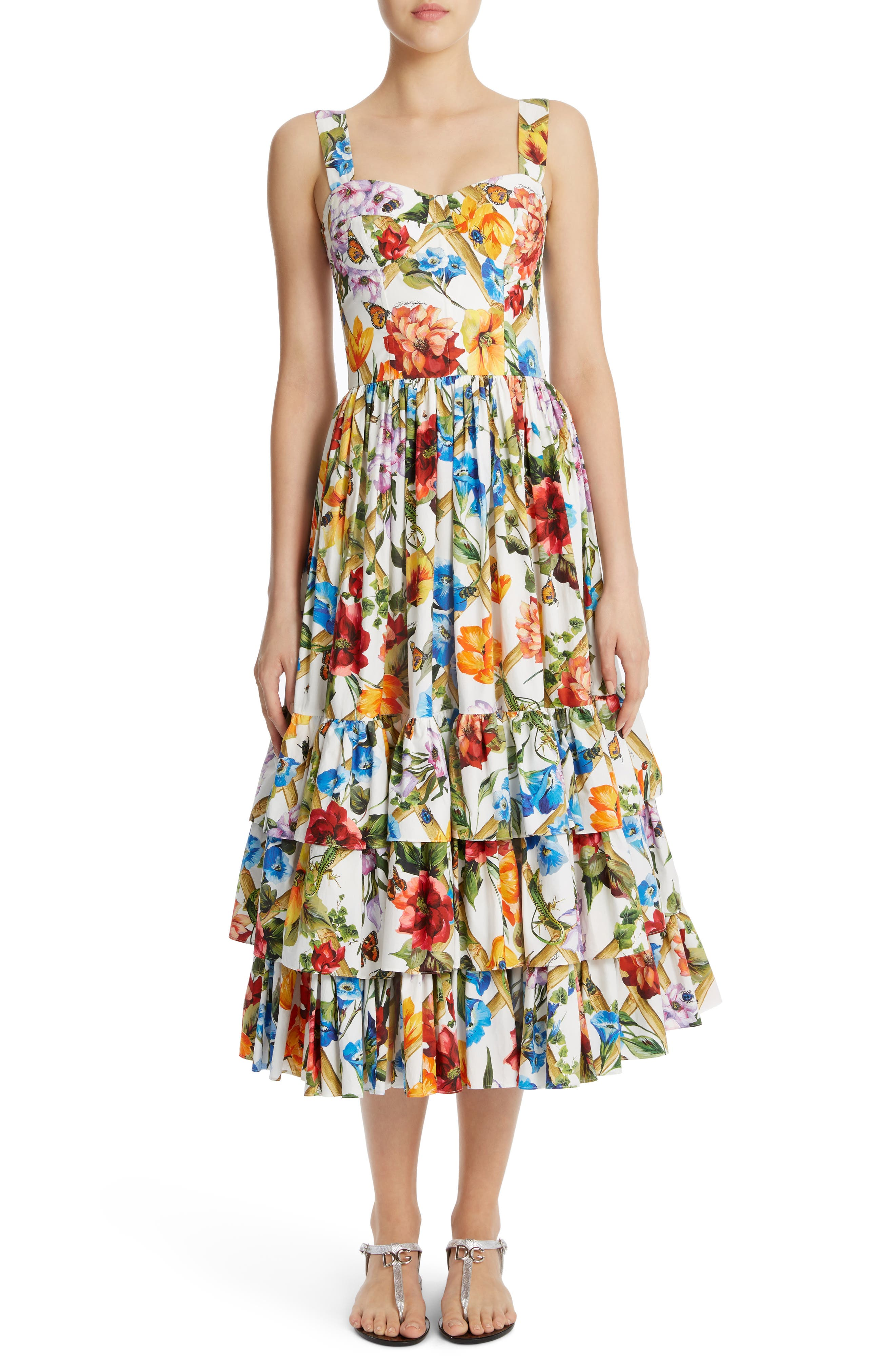Dolce&Gabbana Tier Hem Poplin Dress