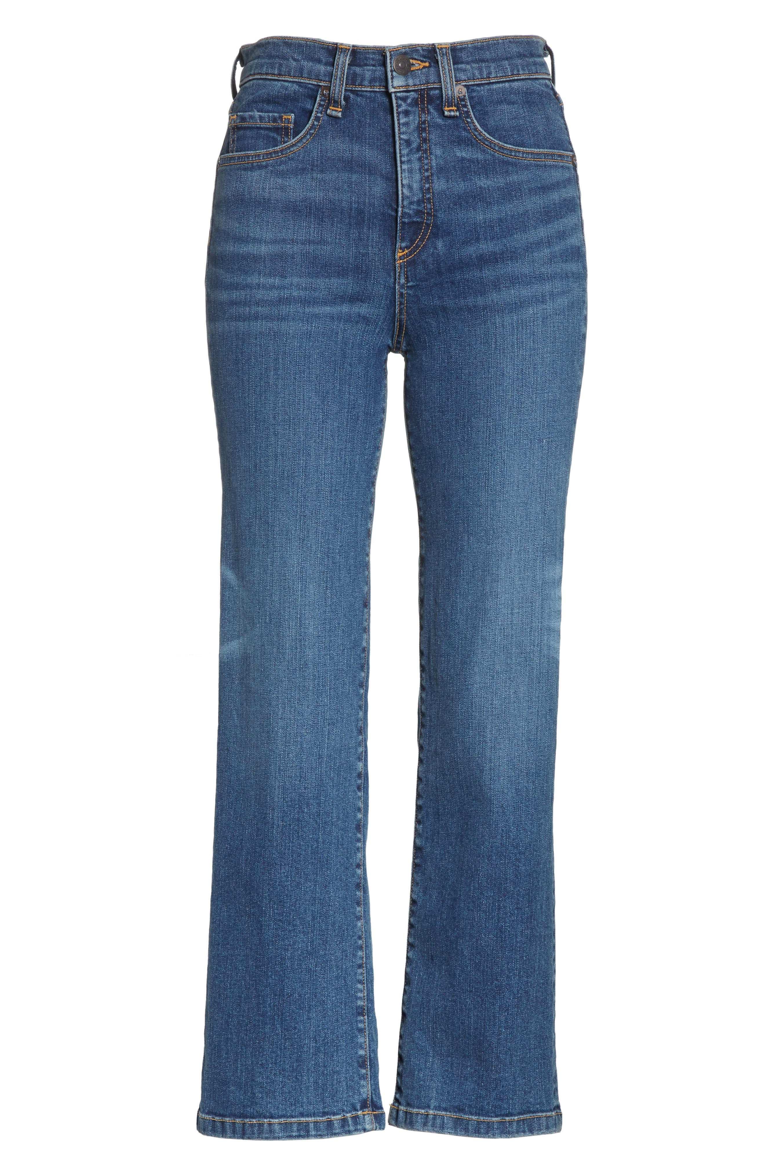 Jackie Crop Straight Leg Jeans,                             Alternate thumbnail 6, color,                             Oxford