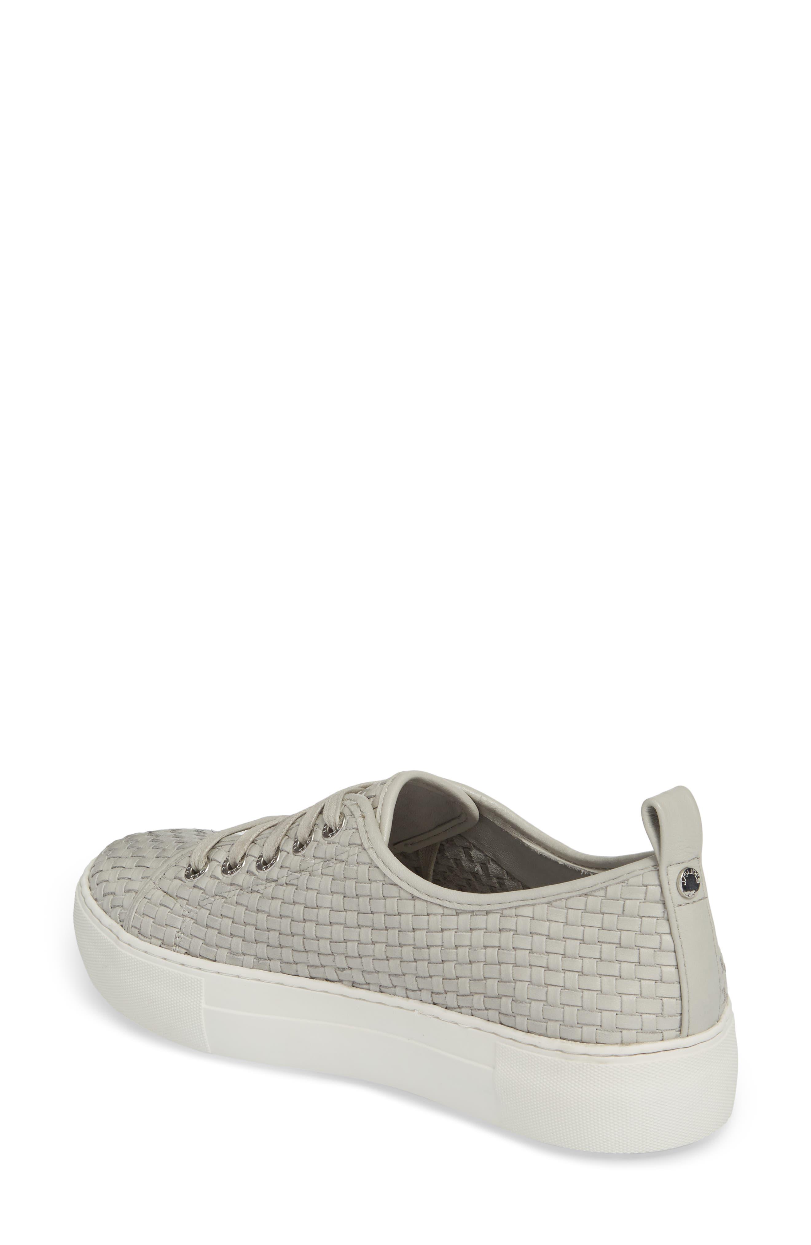 Artsy Woven Platform Sneaker,                             Alternate thumbnail 2, color,                             Pale Grey Leather