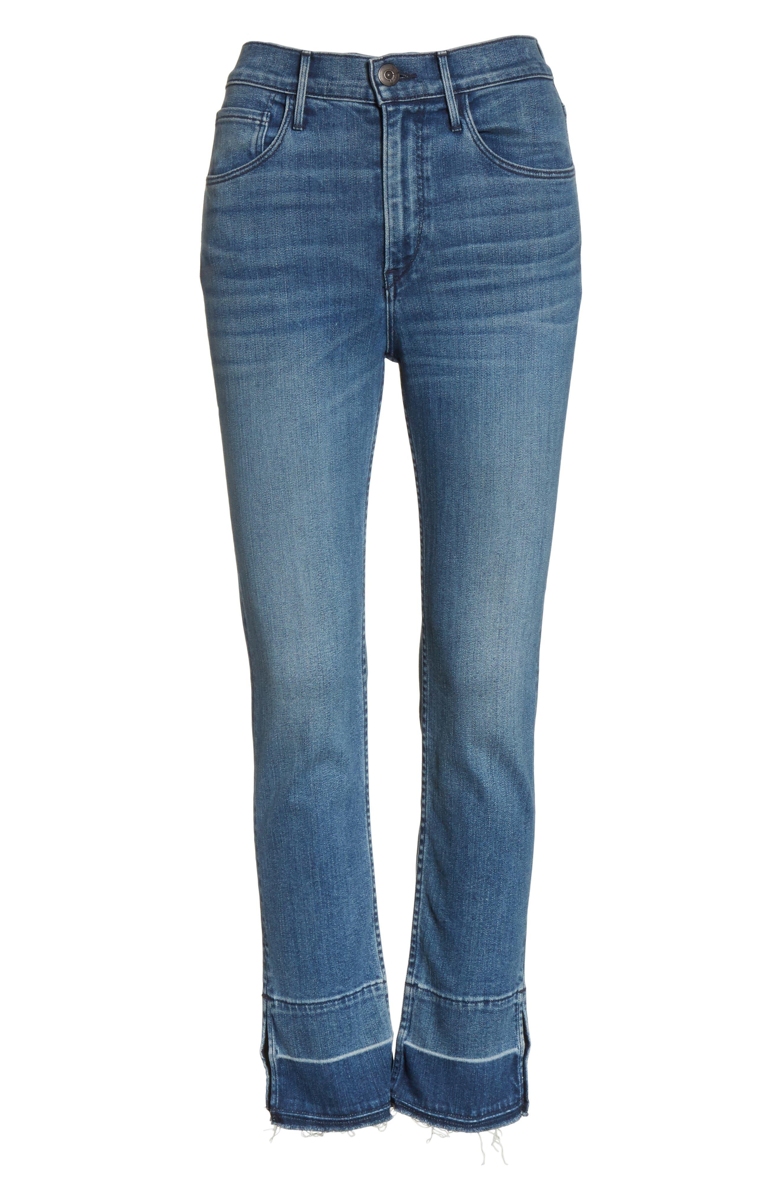 W4 Abigail Released Split Hem Ankle Skinny Jeans,                             Alternate thumbnail 6, color,                             Ady