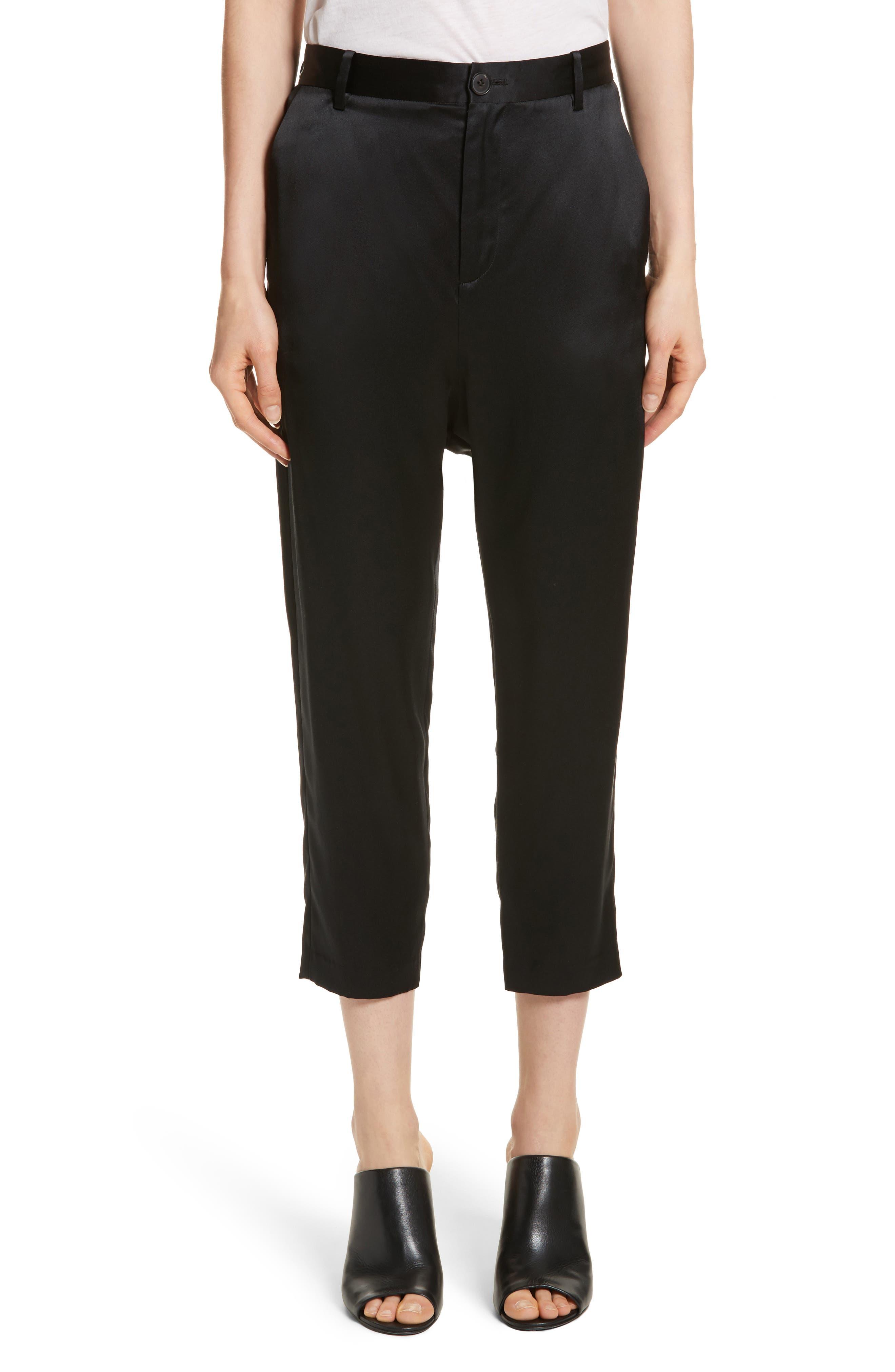Nili Lotan Paris Silk Crop Pants