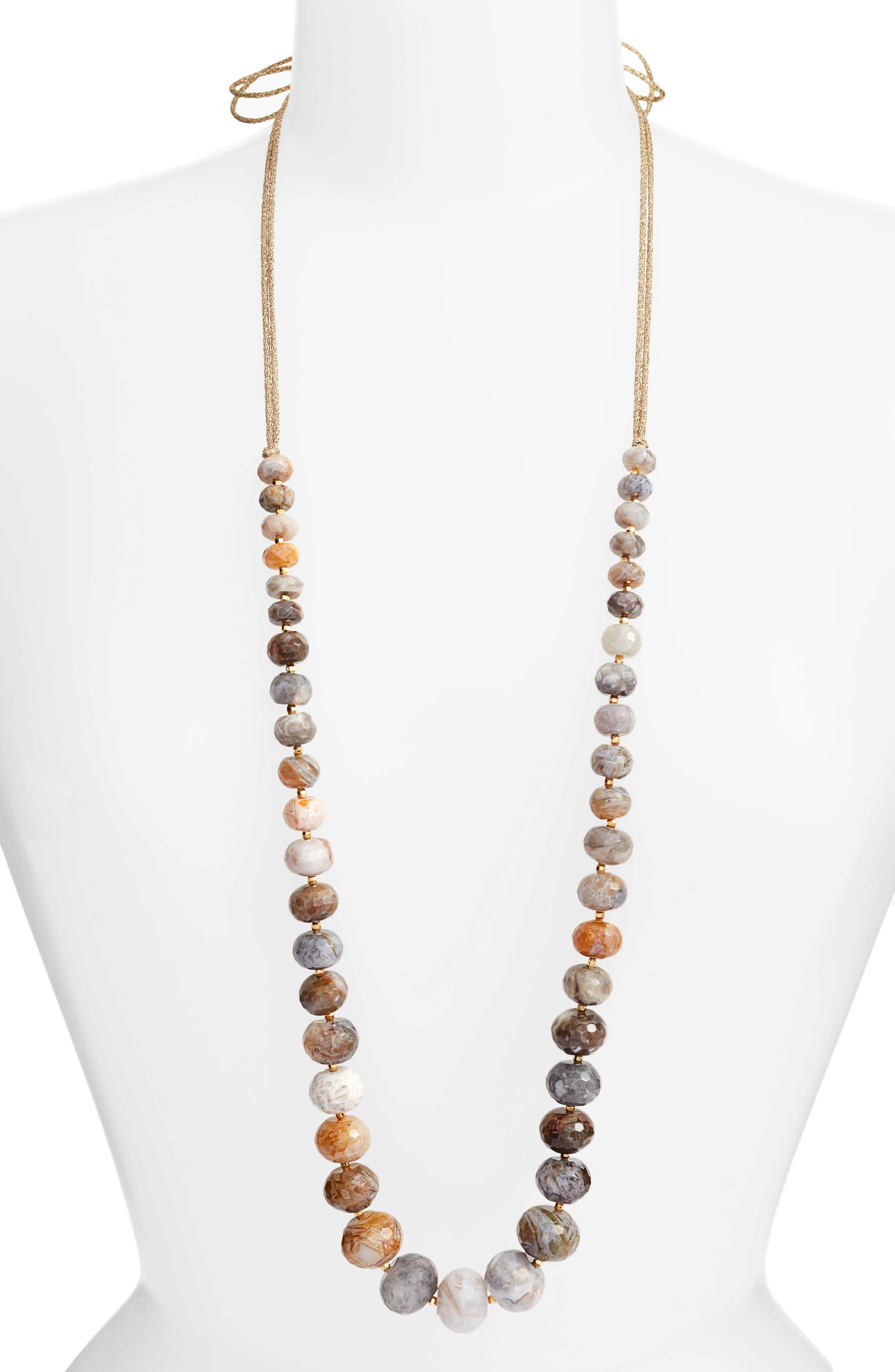 Alternate Image 1 Selected - Chan Luu Graduated Semiprecious Stone Necklace